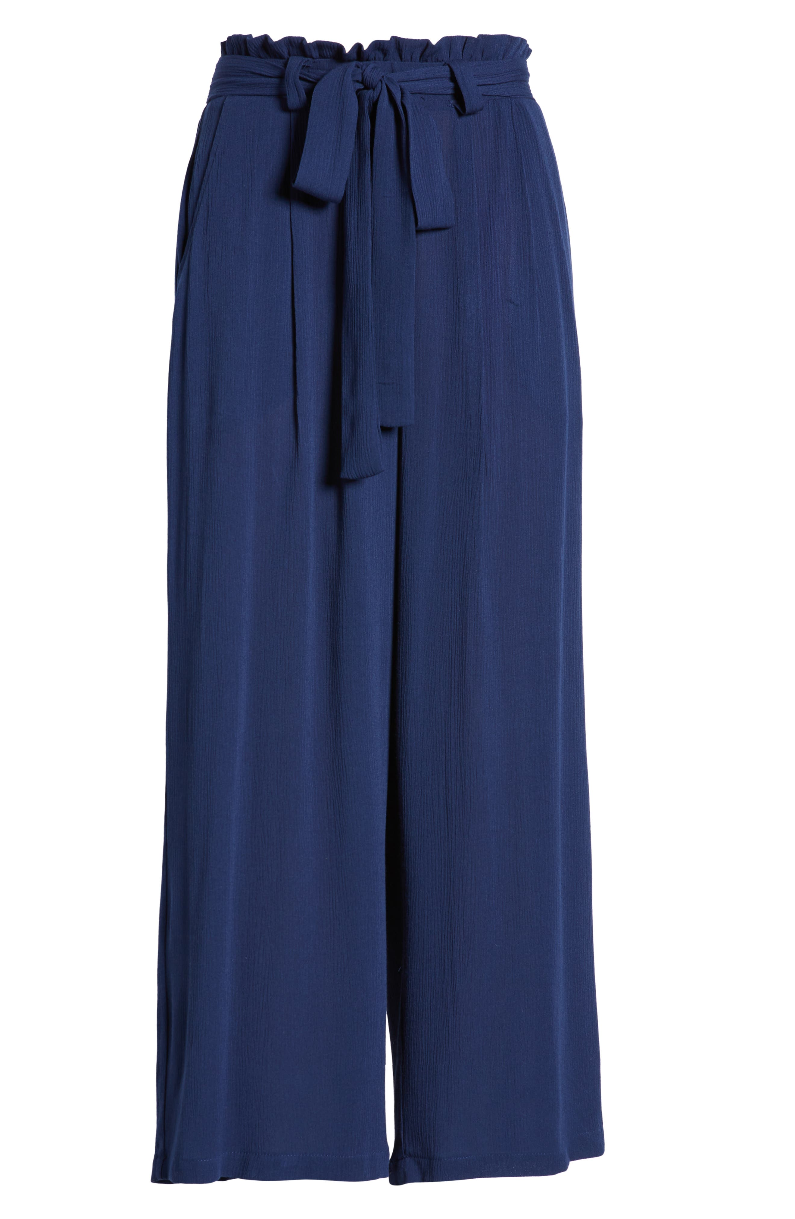 GIBSON,                             x Hi Sugarplum! Sedona Wide Leg Ankle Pants,                             Alternate thumbnail 7, color,                             CHAMBRAY SOLID