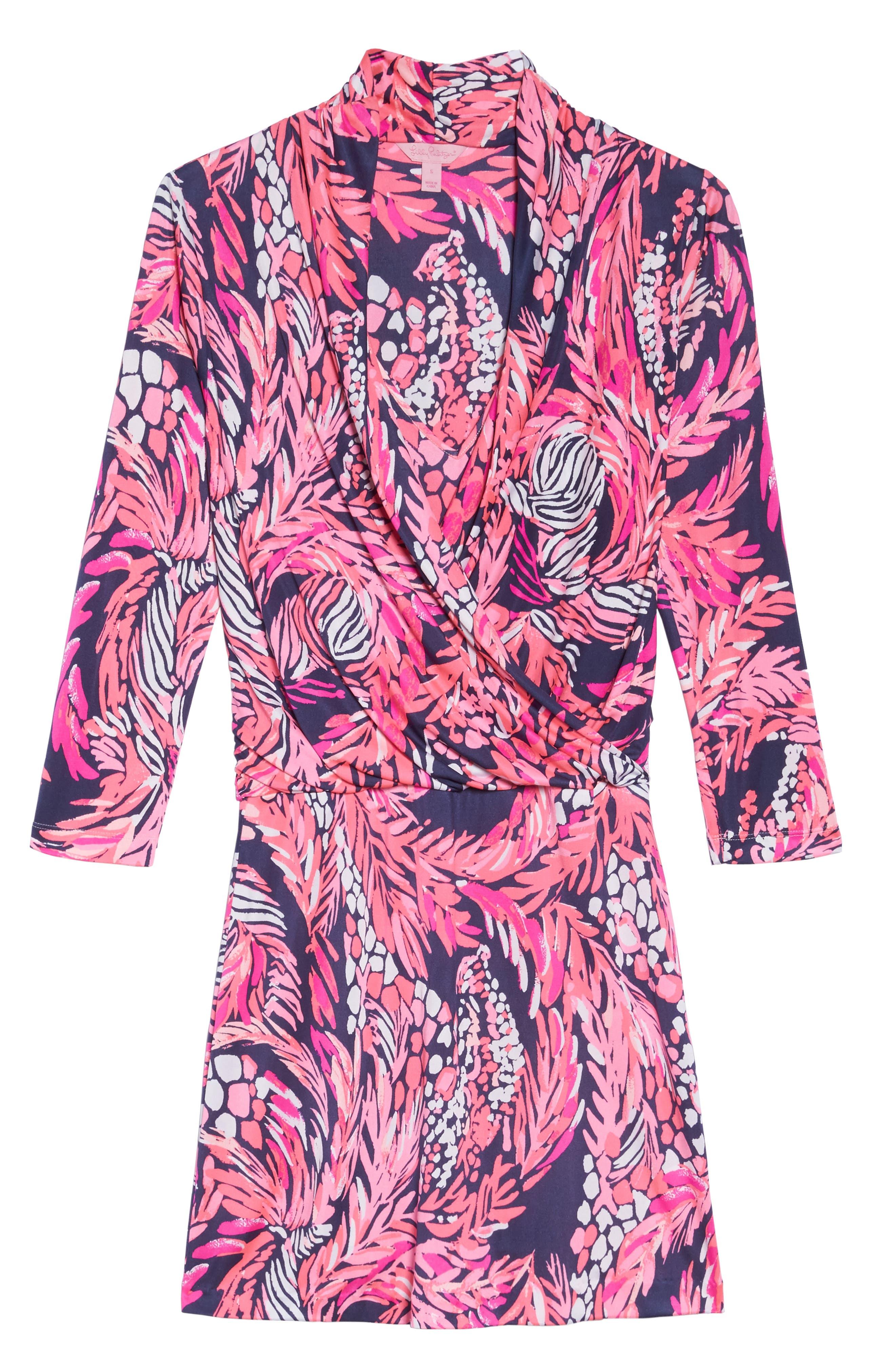 Felizia Silk Dress,                             Alternate thumbnail 6, color,