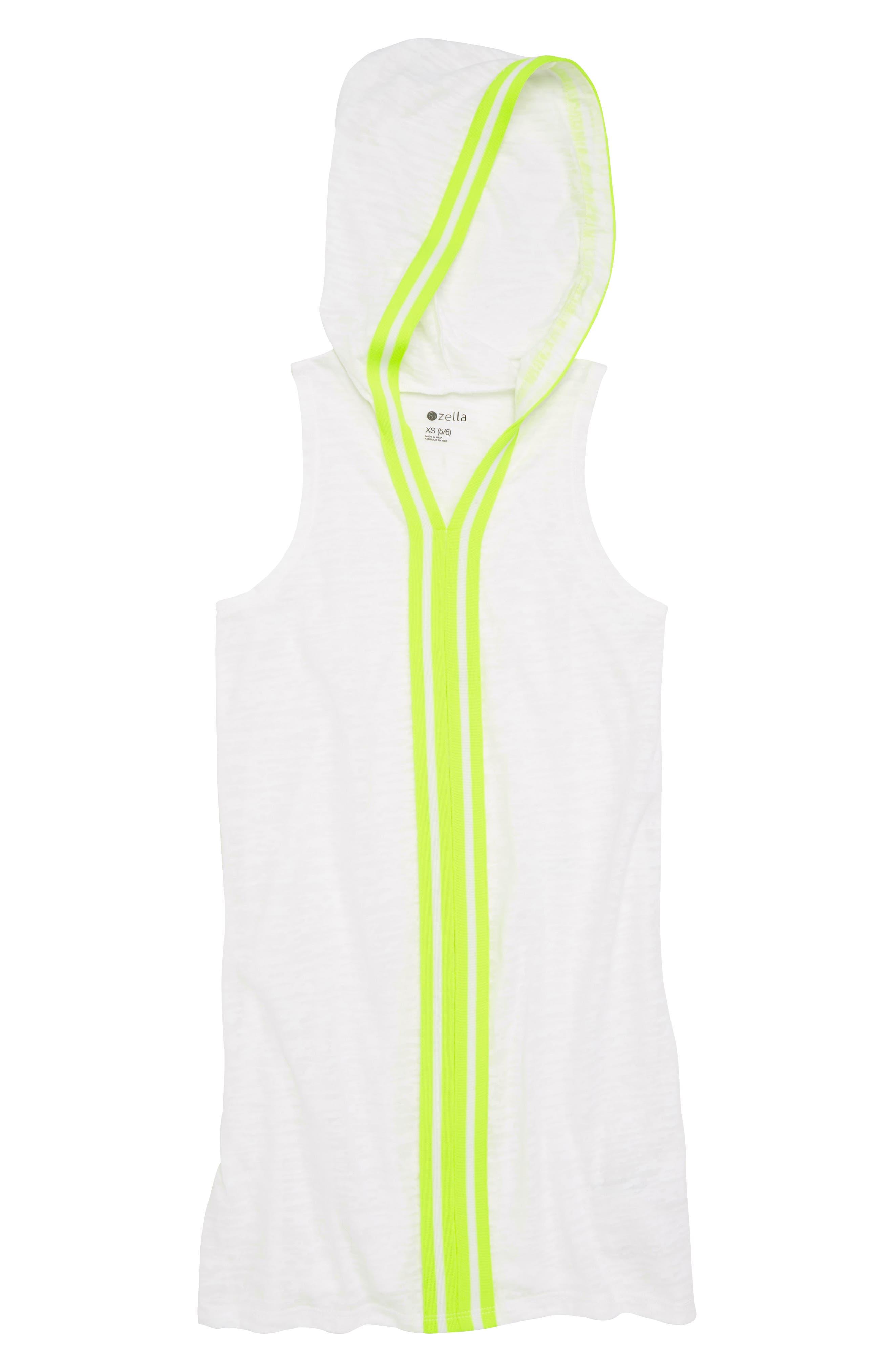Zella Neon Hooded Cover-Up Dress,                             Main thumbnail 1, color,