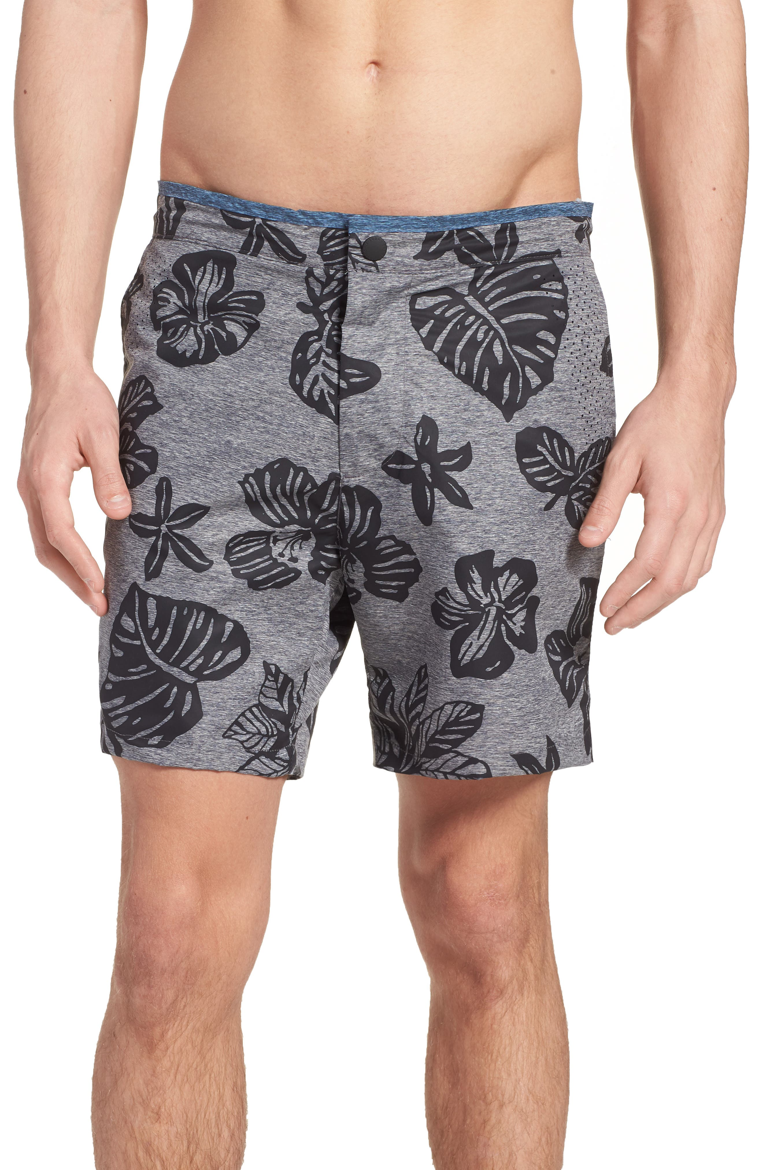 Print Mélange Board Shorts,                             Main thumbnail 1, color,