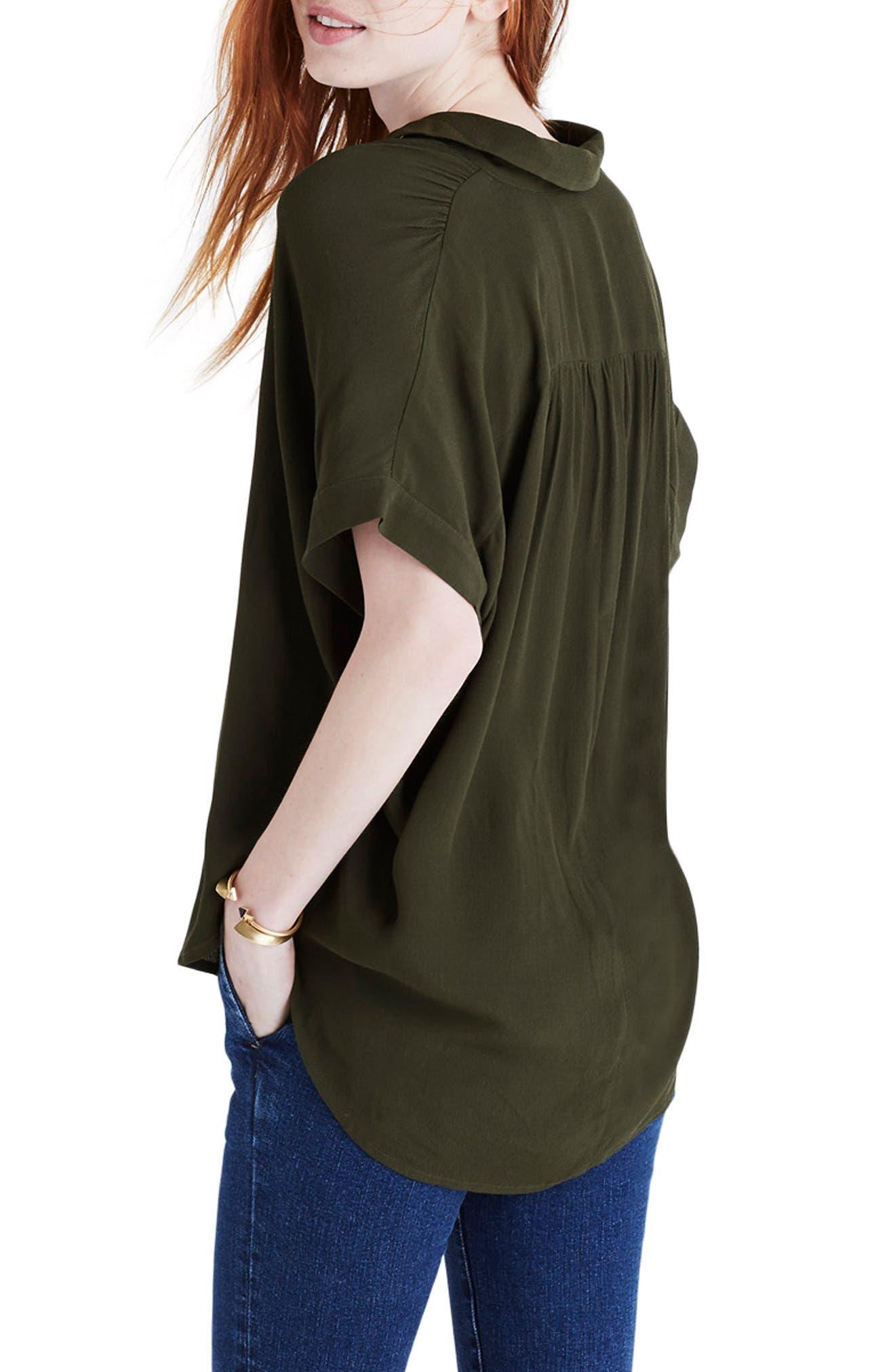 Central Drapey Shirt,                             Alternate thumbnail 2, color,                             KALE