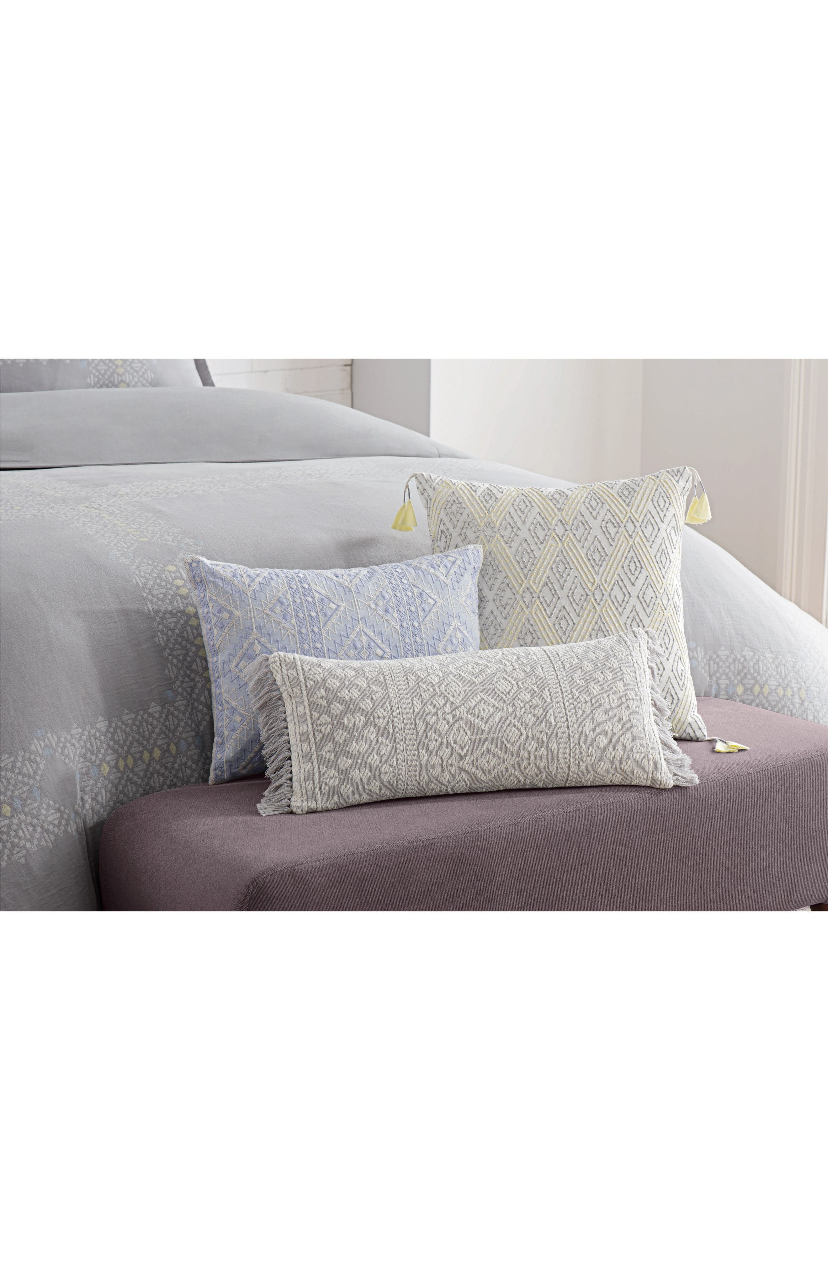 Geometric Embroidered Accent Pillow,                         Main,                         color,