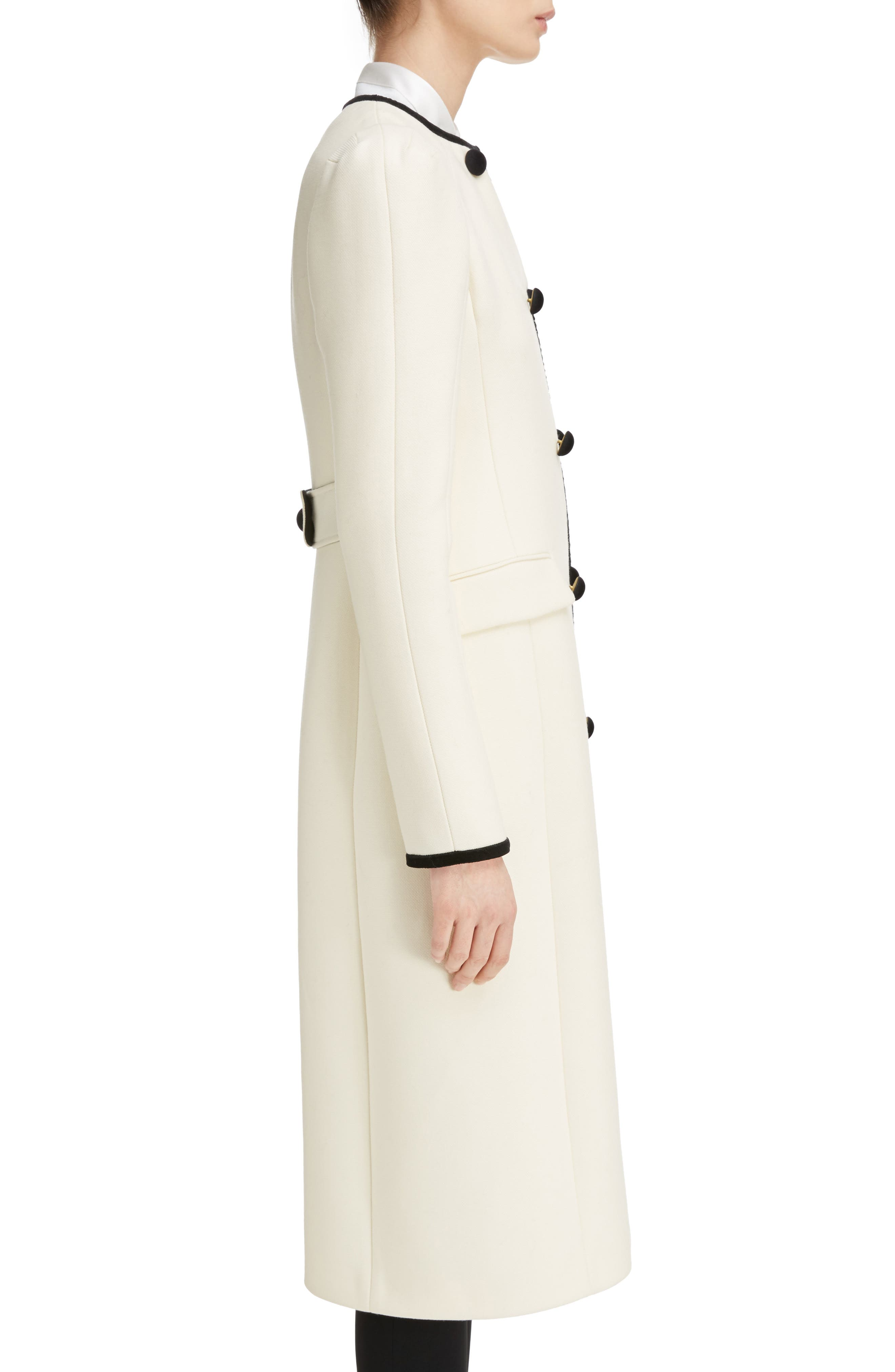 Bellasio Double Breasted Wool Coat,                             Alternate thumbnail 3, color,
