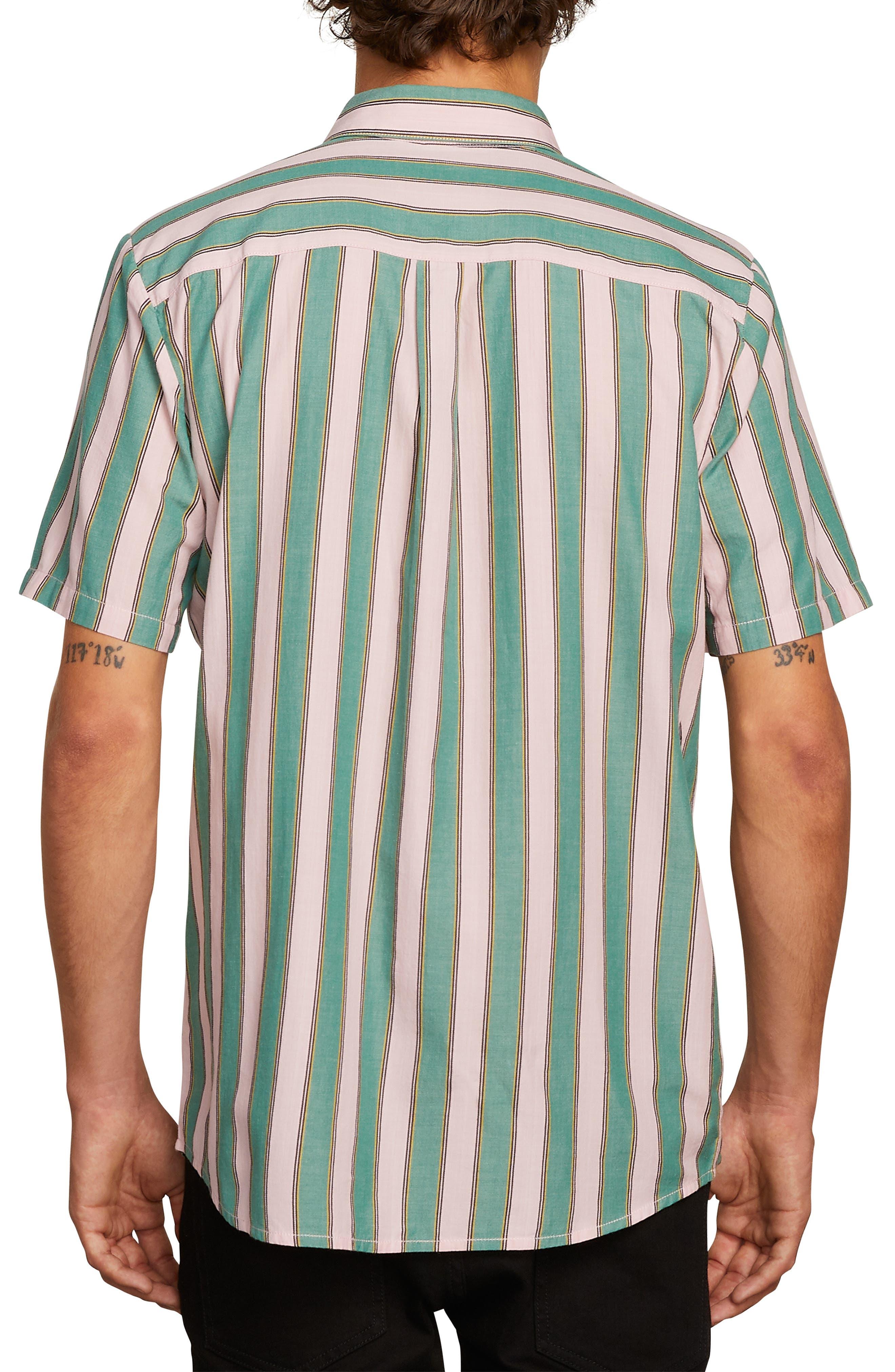 The Bold Stripe Woven Shirt,                             Alternate thumbnail 2, color,                             DEEP SEA