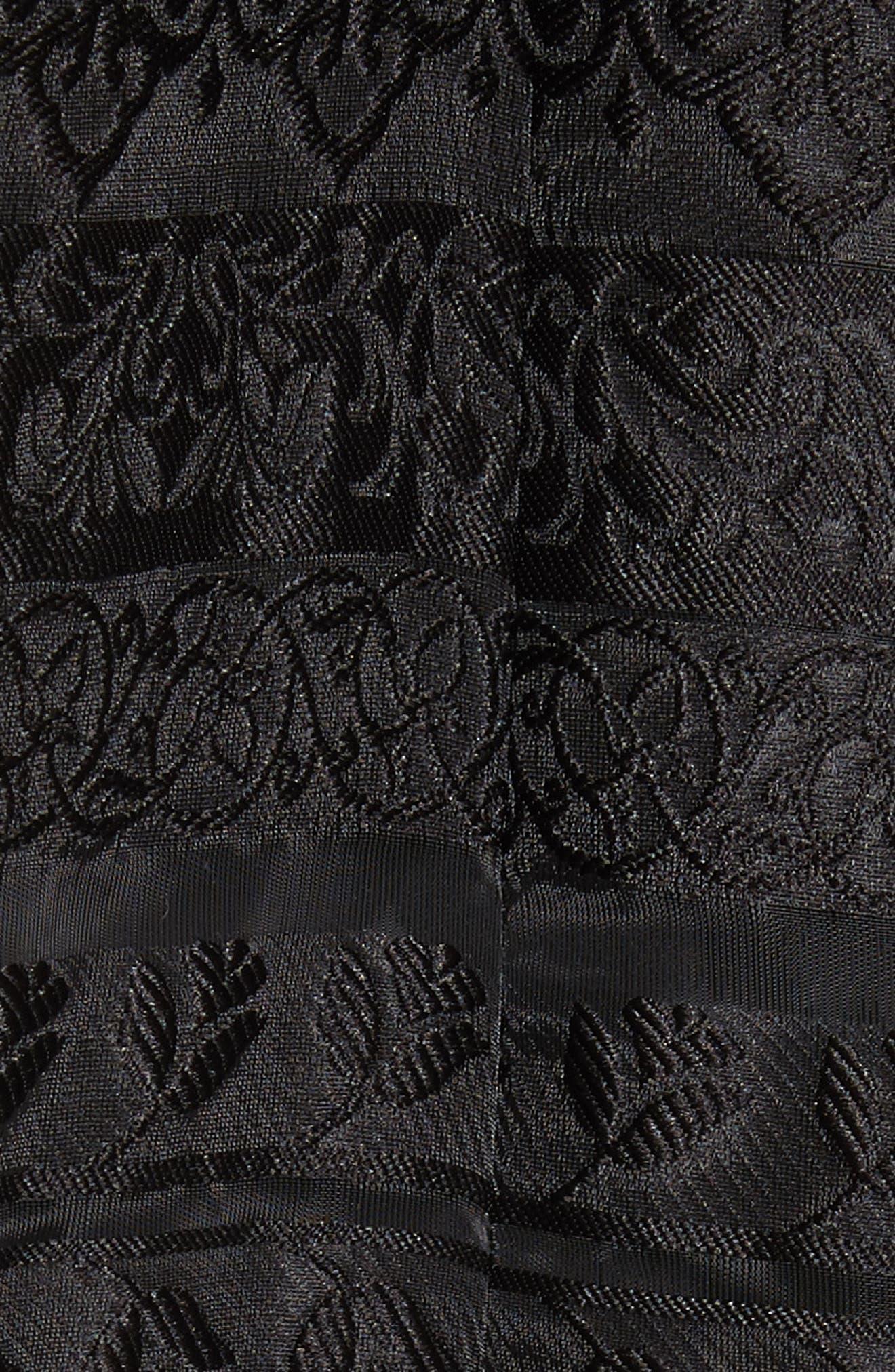 Noir Istiklal Embellished Strapless Ballgown,                             Alternate thumbnail 5, color,                             001