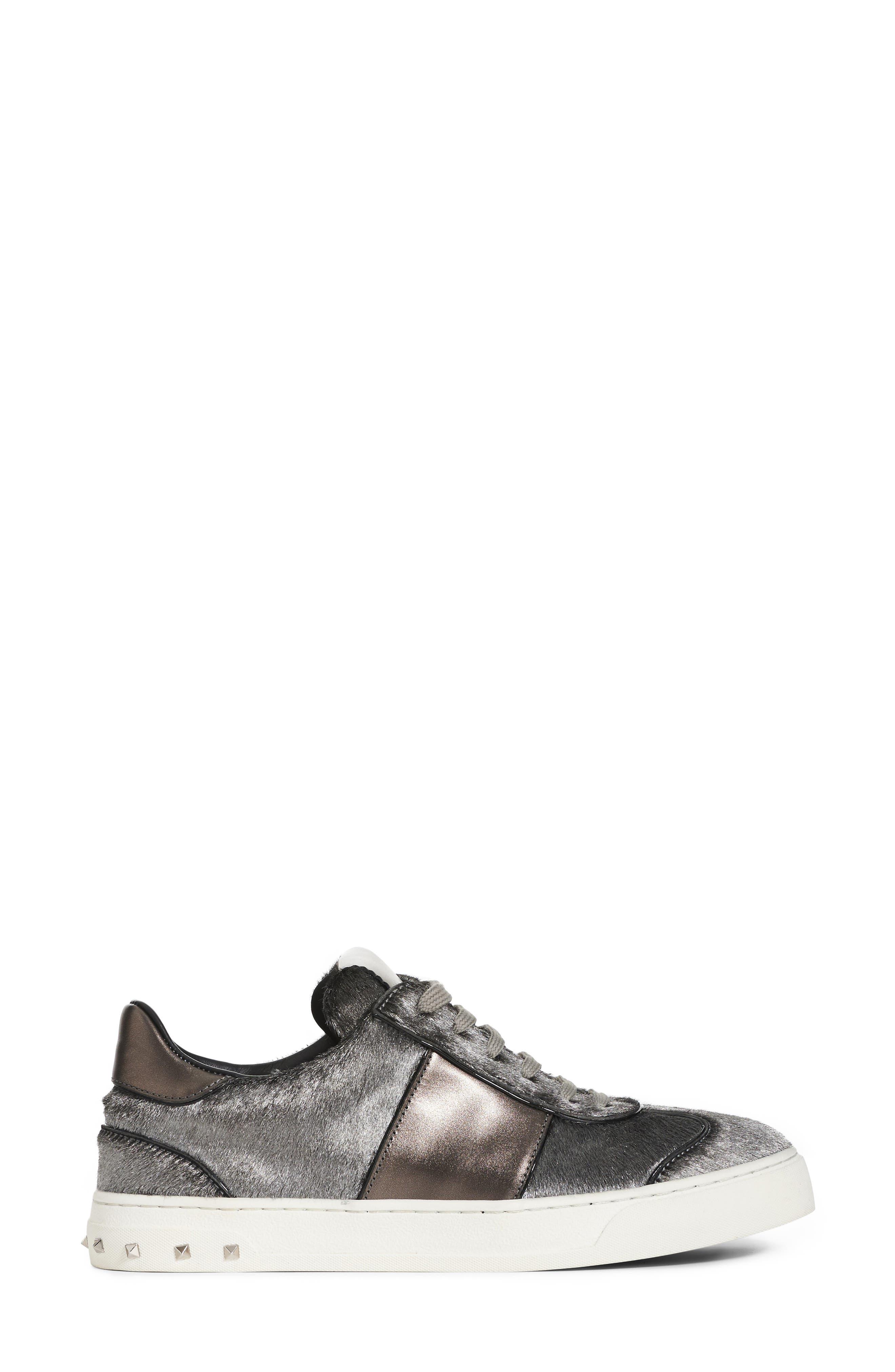 Flycrew Rockstud Genuine Calf Hair Sneaker,                             Alternate thumbnail 3, color,                             040