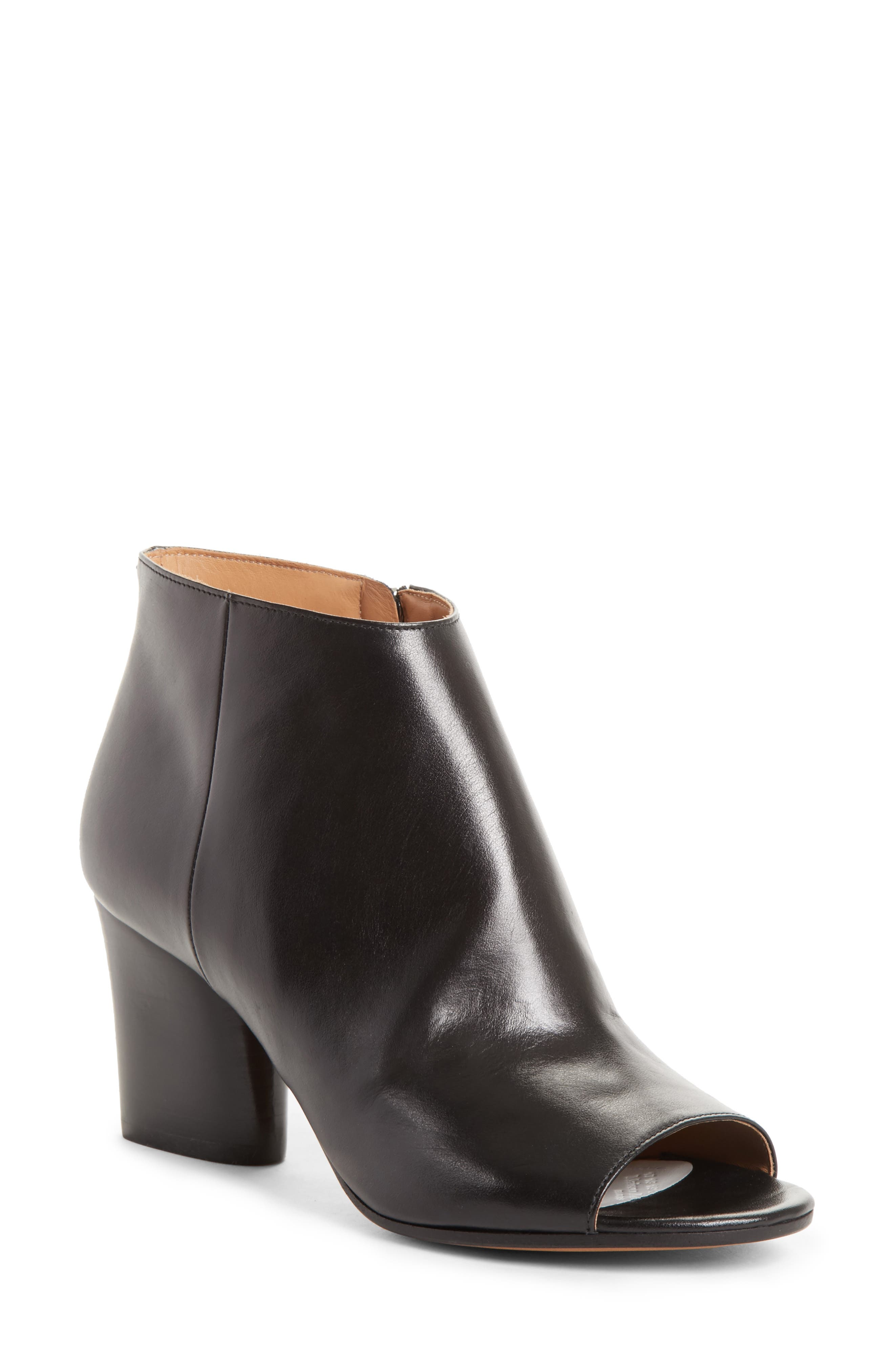 Open Toe Ankle Boot,                             Main thumbnail 1, color,                             001