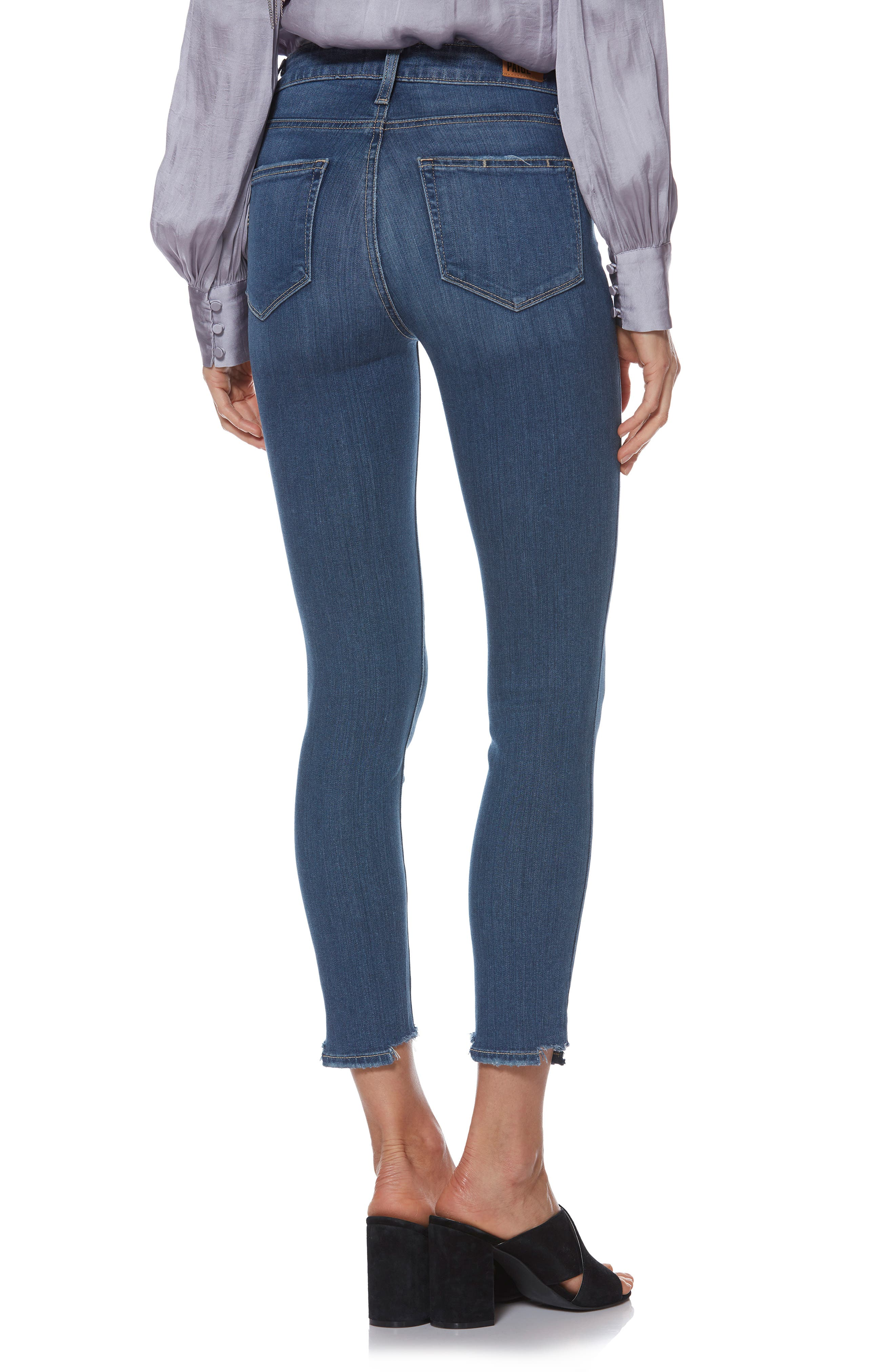 Transcend - Hoxton High Waist Crop Skinny Jeans,                             Alternate thumbnail 2, color,                             400