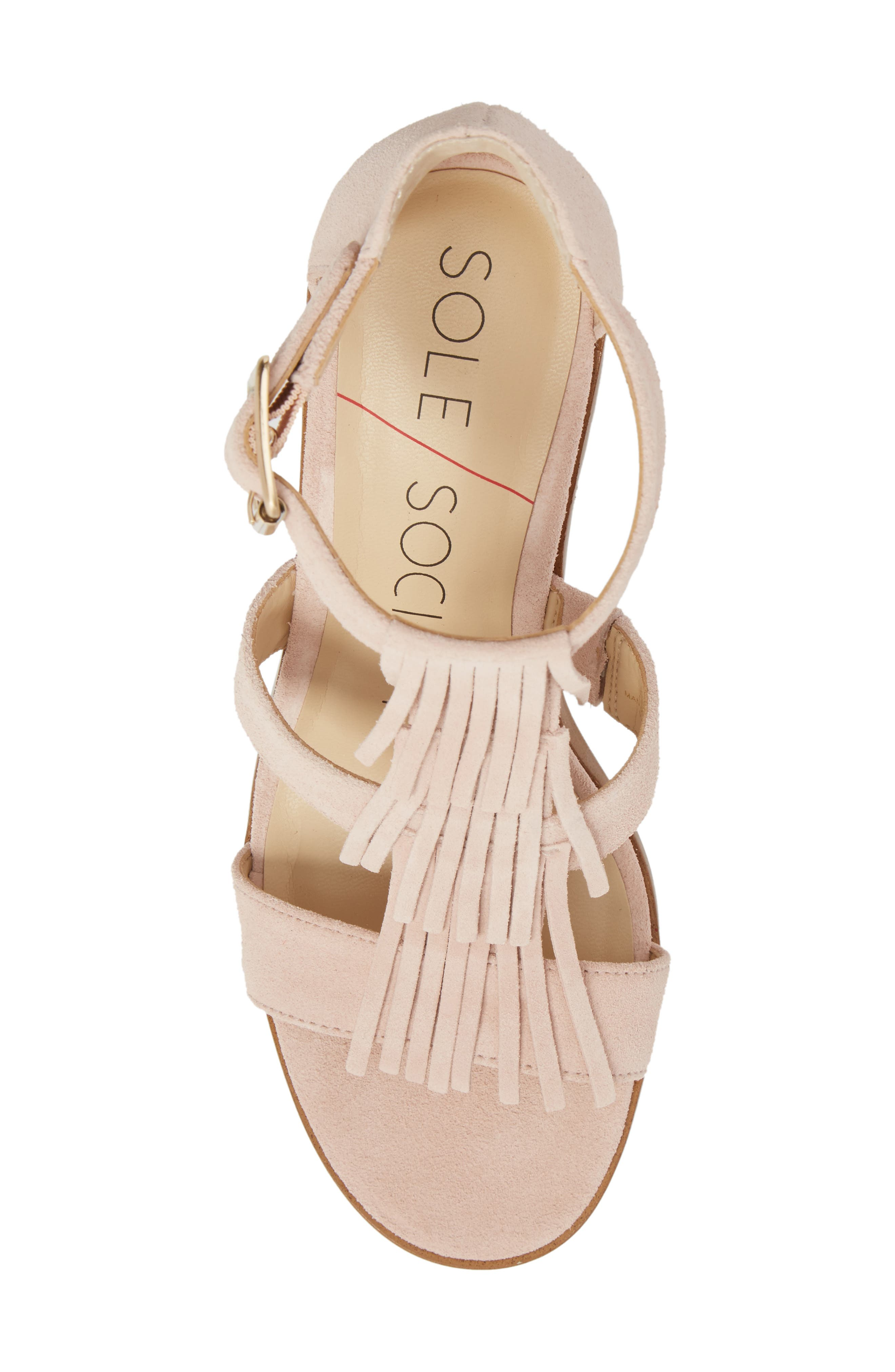 'Delilah' Fringe Sandal,                             Alternate thumbnail 35, color,