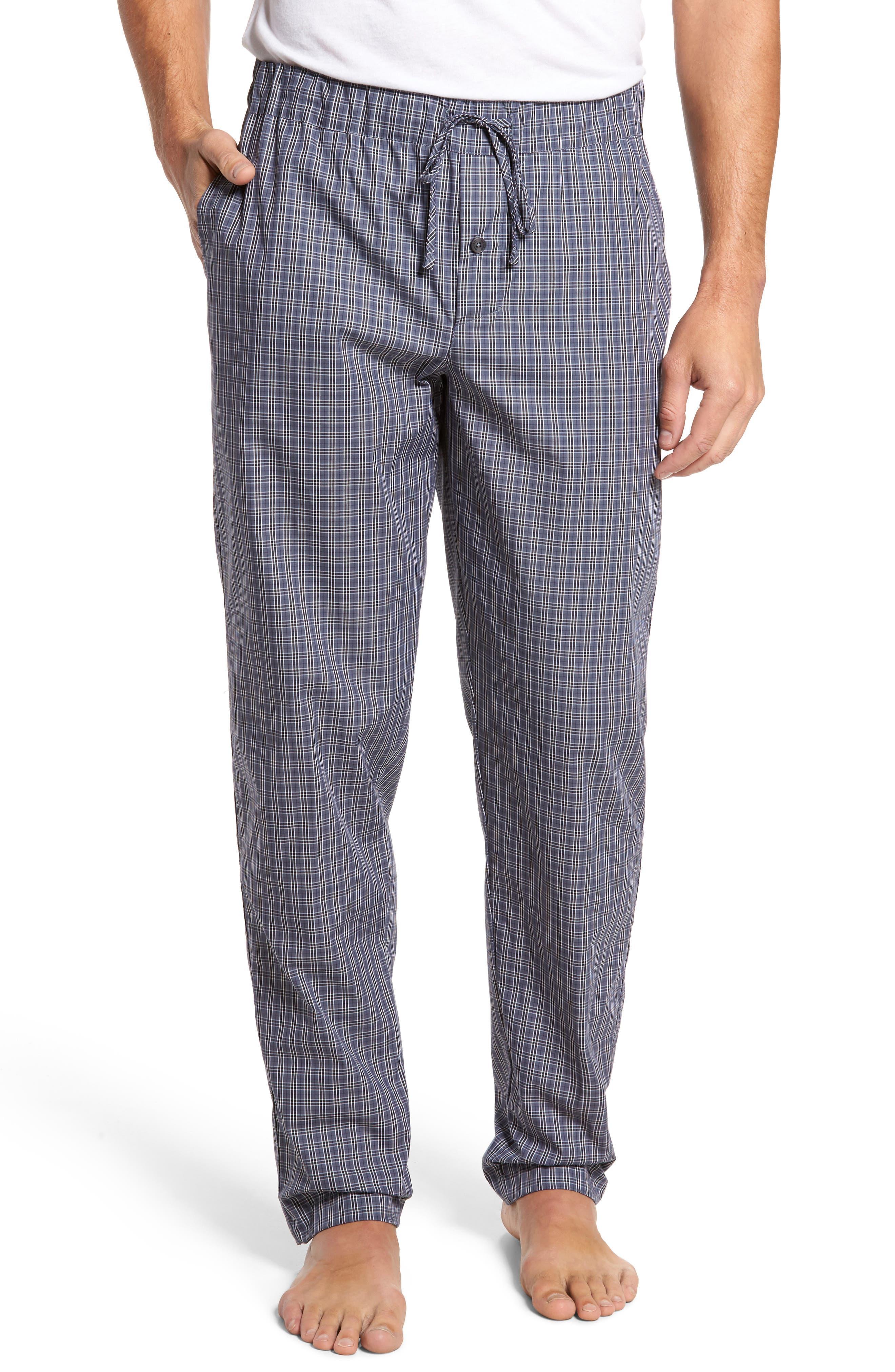 Night & Day Woven Lounge Pants,                             Main thumbnail 1, color,                             GREY CHECK