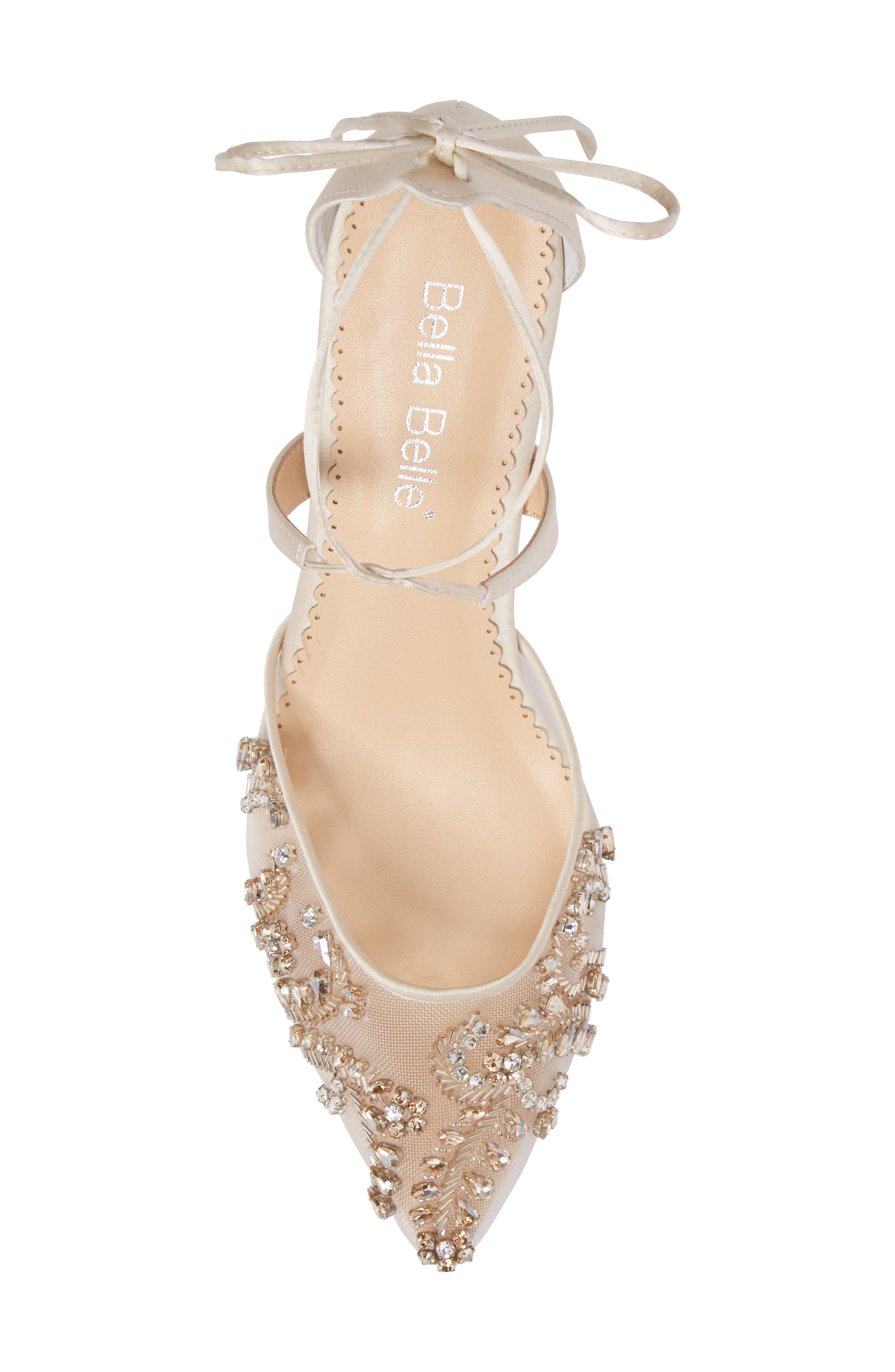 Frances Embellished Kitten Heel Pump,                             Alternate thumbnail 5, color,                             CHAMPAGNE SILK