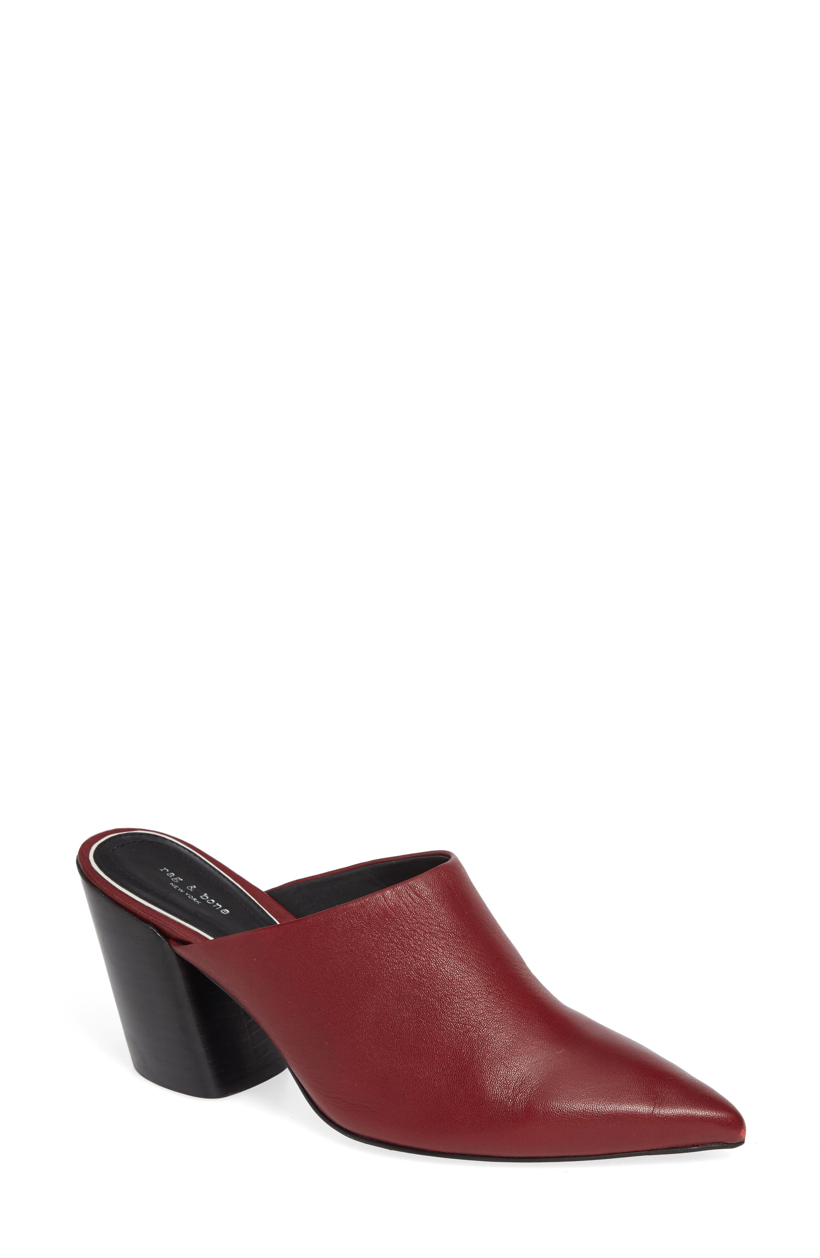 Beha Pointy Toe Mule,                         Main,                         color, BIKING RED