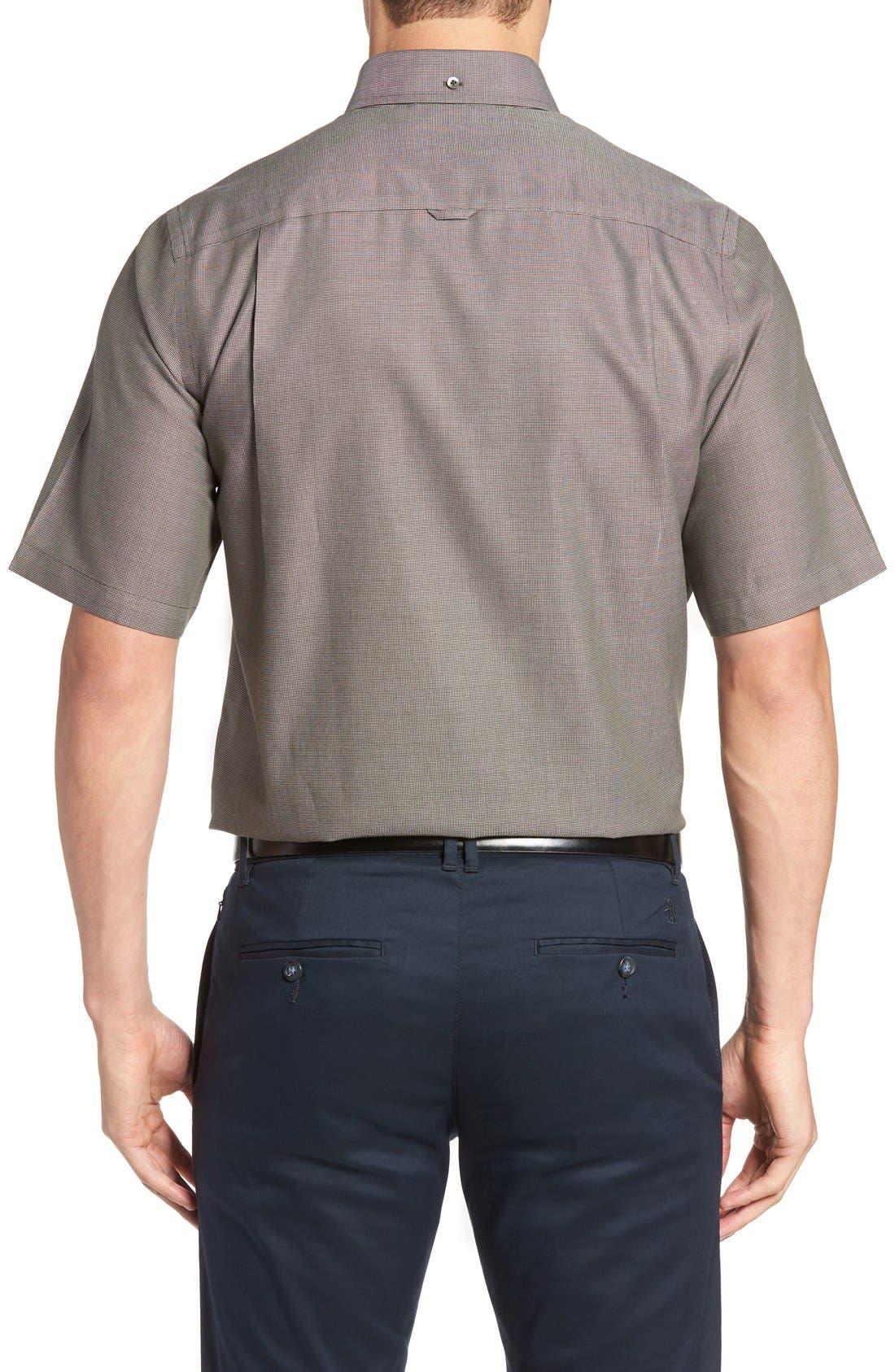 'Classic' Smartcare<sup>™</sup> Regular Fit Short Sleeve Cotton Sport Shirt,                             Alternate thumbnail 29, color,