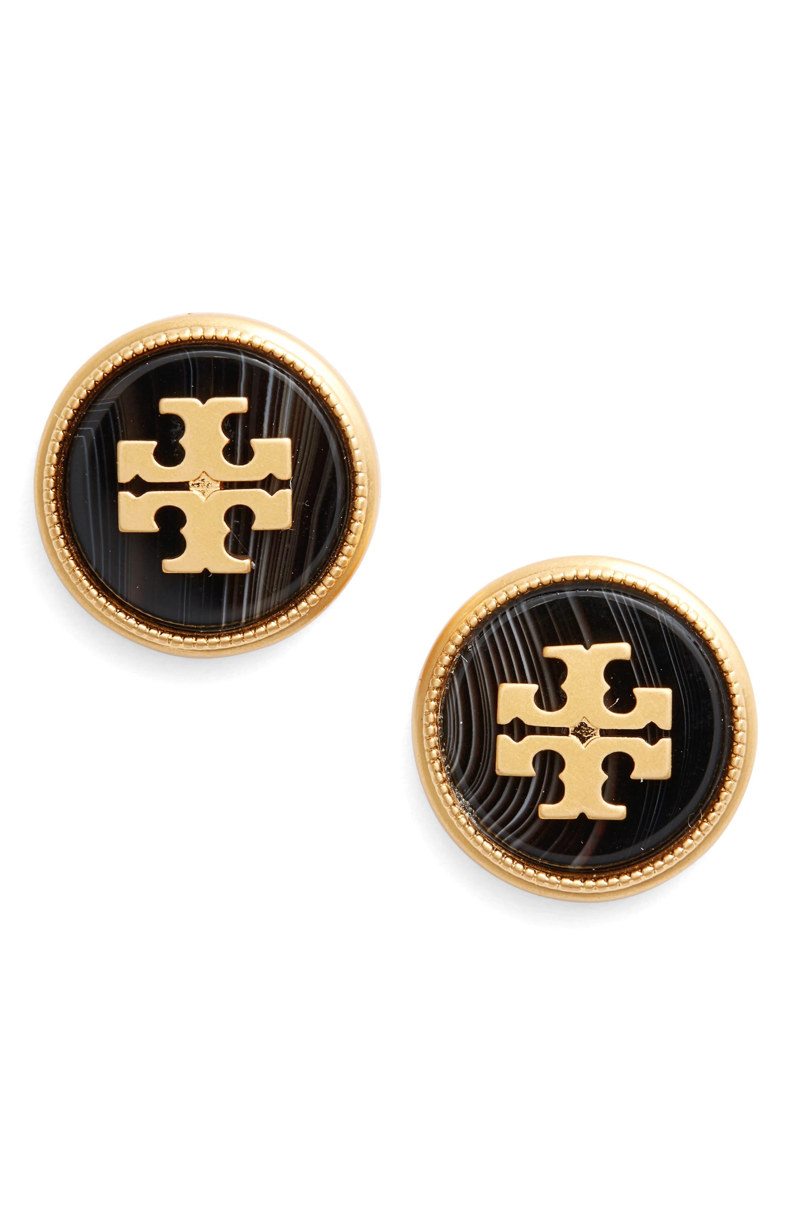 Semiprecious Stone Stud Earrings,                         Main,                         color,