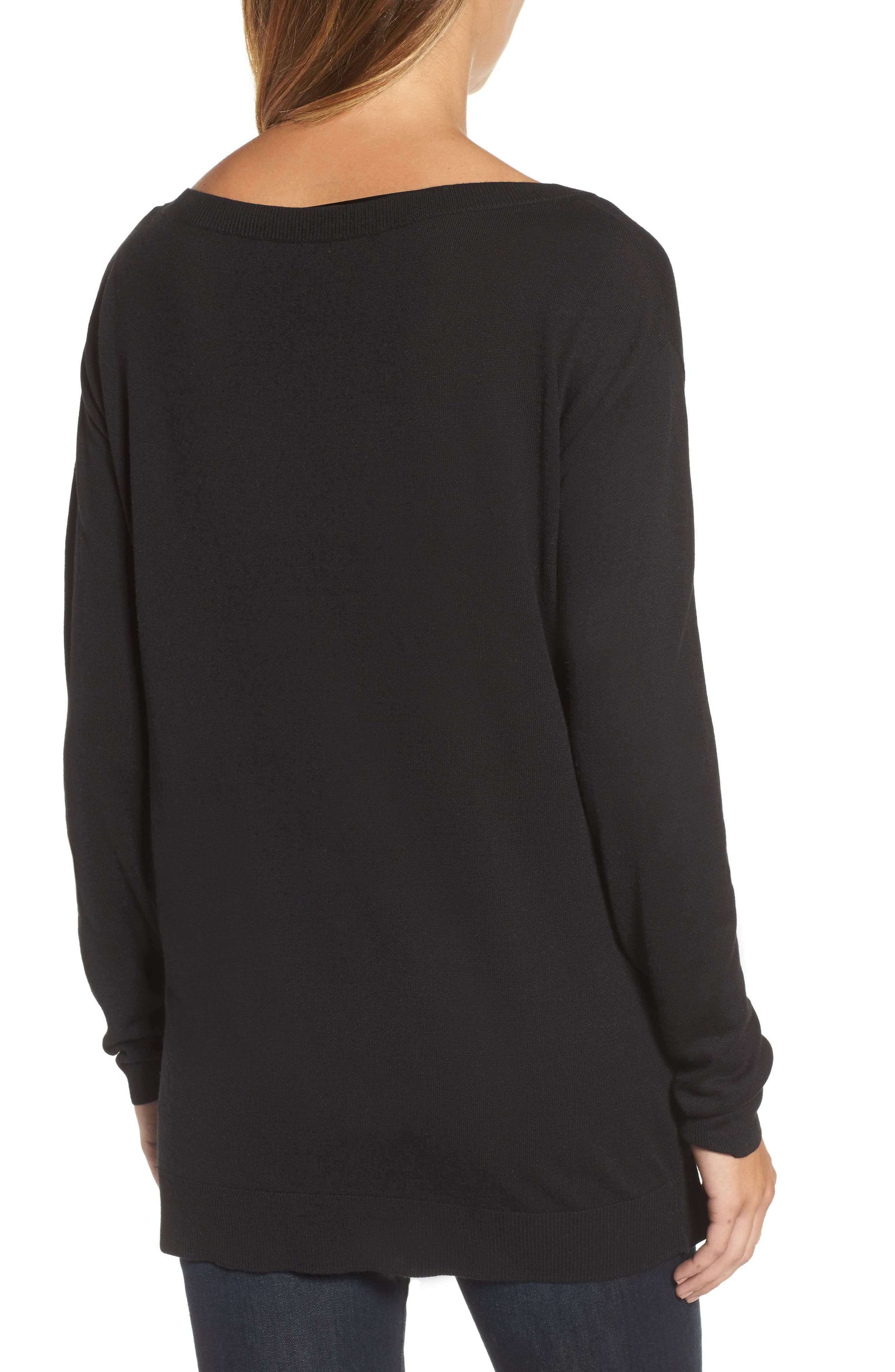 Boatneck Tunic Sweater,                             Alternate thumbnail 11, color,