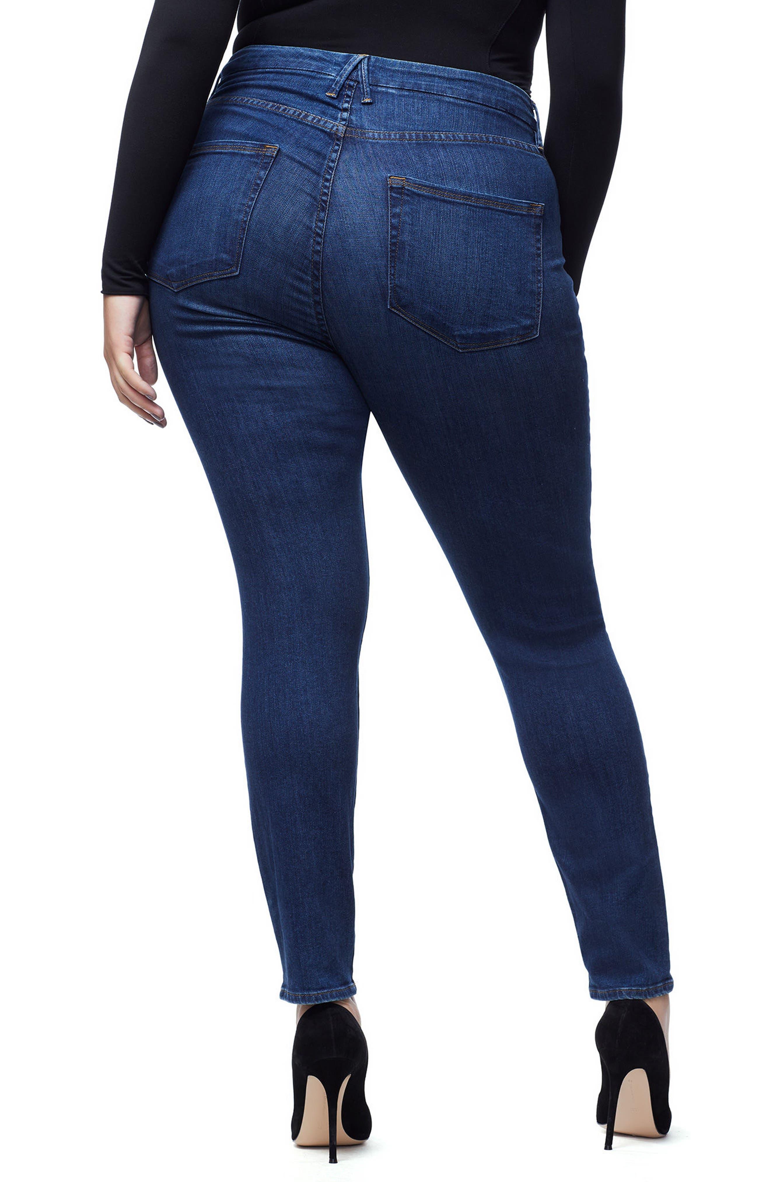 Good Waist High Waist Skinny Jeans,                             Alternate thumbnail 6, color,                             BLUE 161