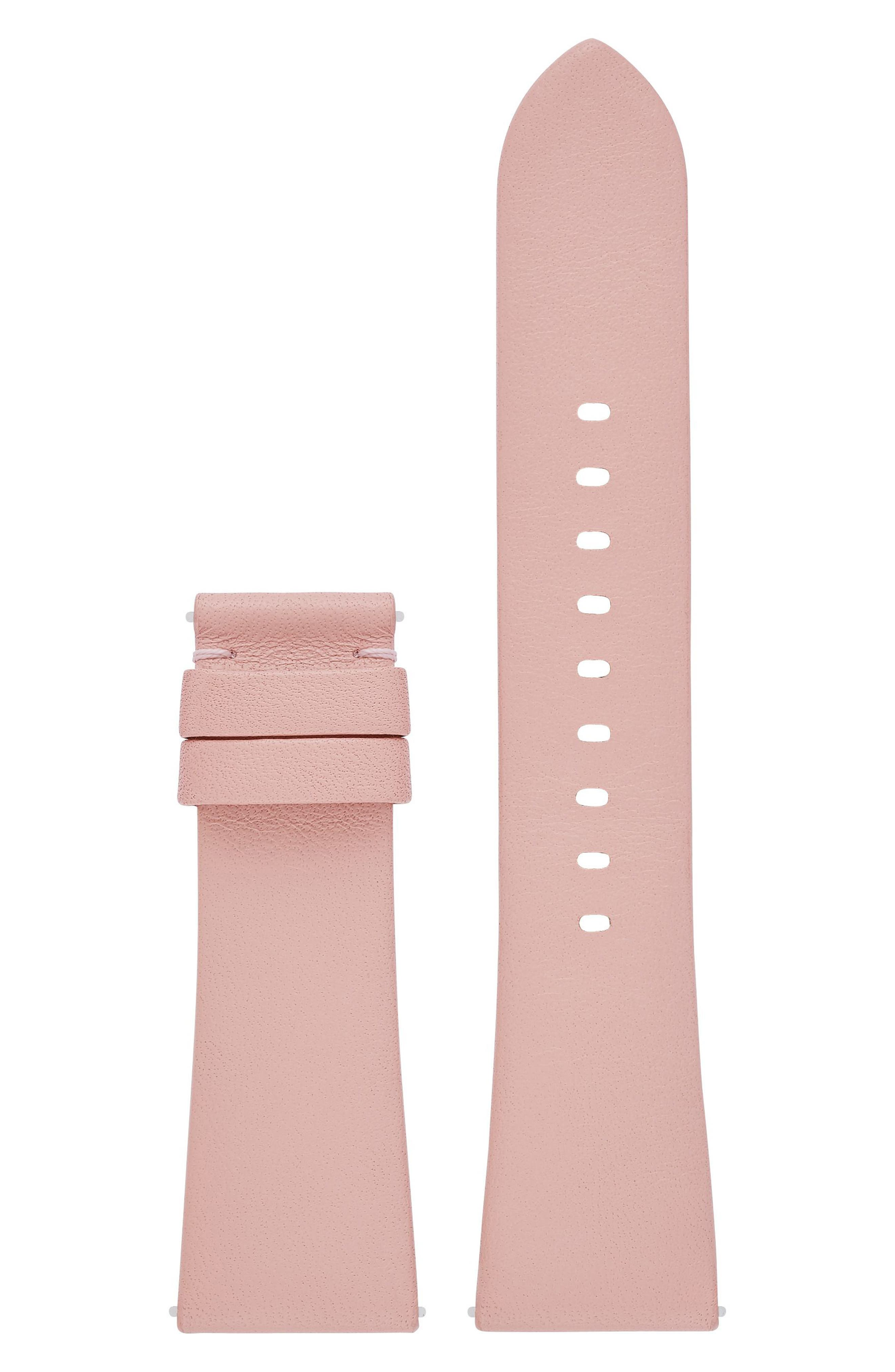 Dylan Interchangeable Leather Strap,                             Main thumbnail 2, color,