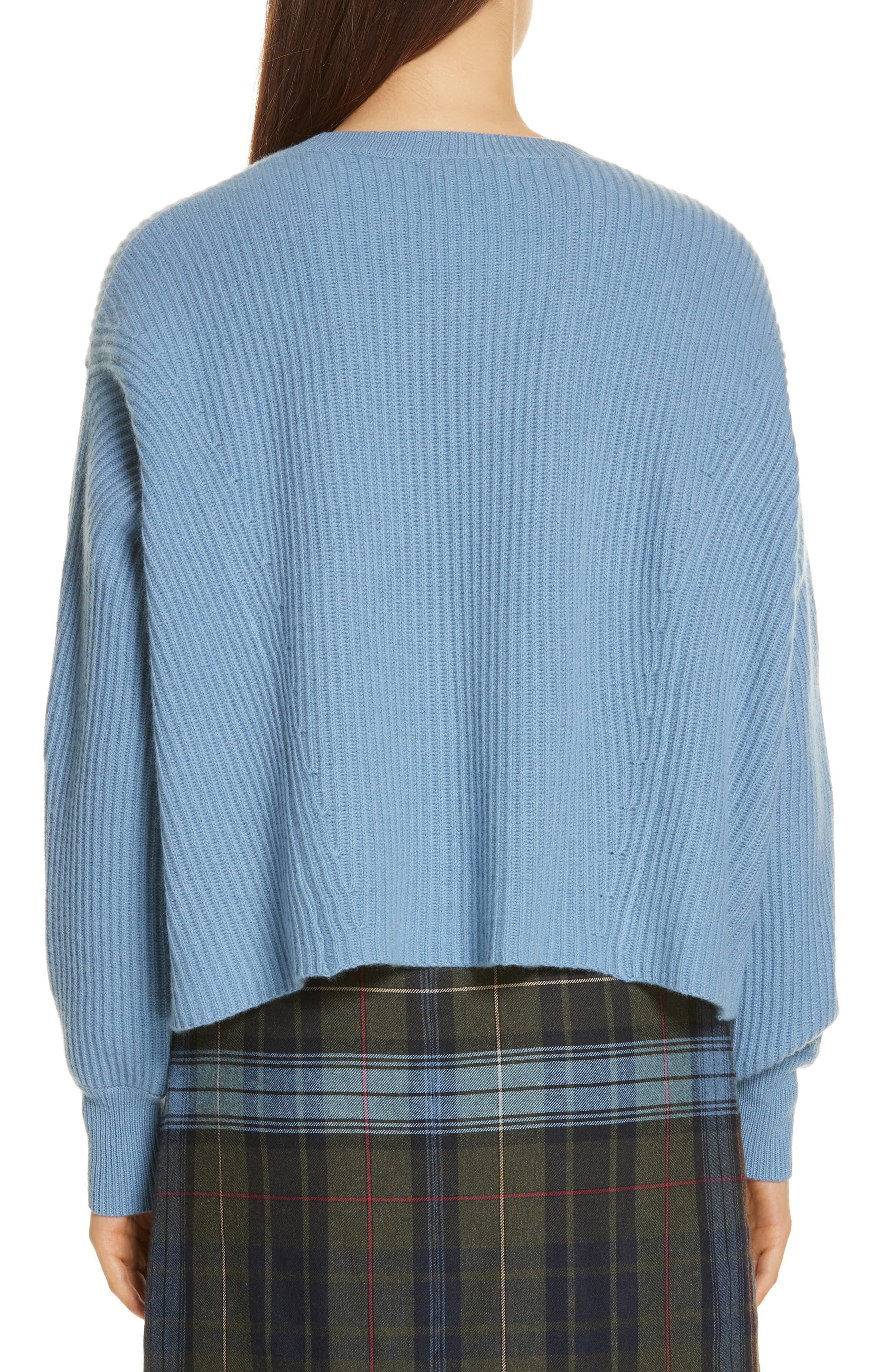 Rib Knit Cashmere Sweater,                             Alternate thumbnail 2, color,                             420