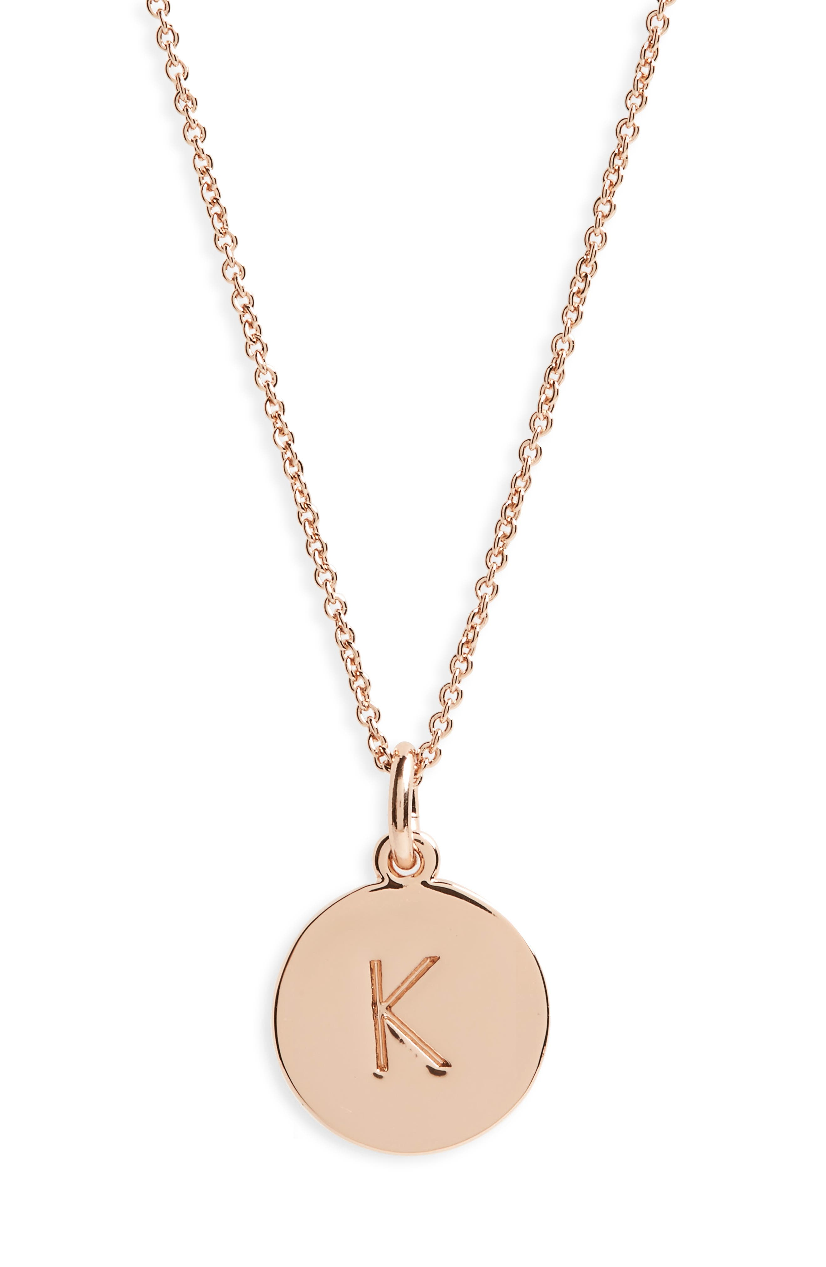 one in a million pendant necklace,                         Main,                         color, K/ ROSE GOLD