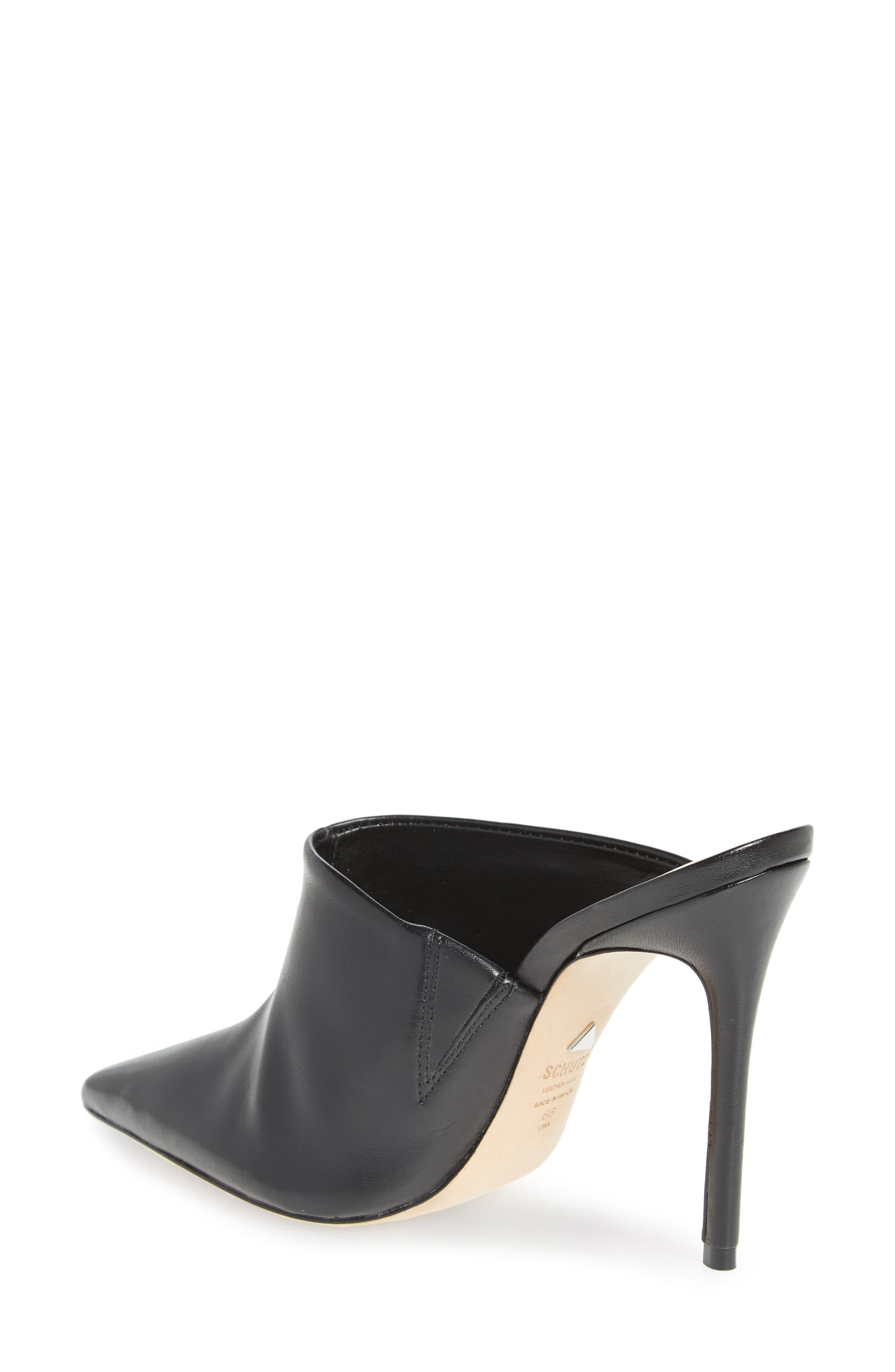 Quincy Stiletto Mule,                             Alternate thumbnail 2, color,                             BLACK