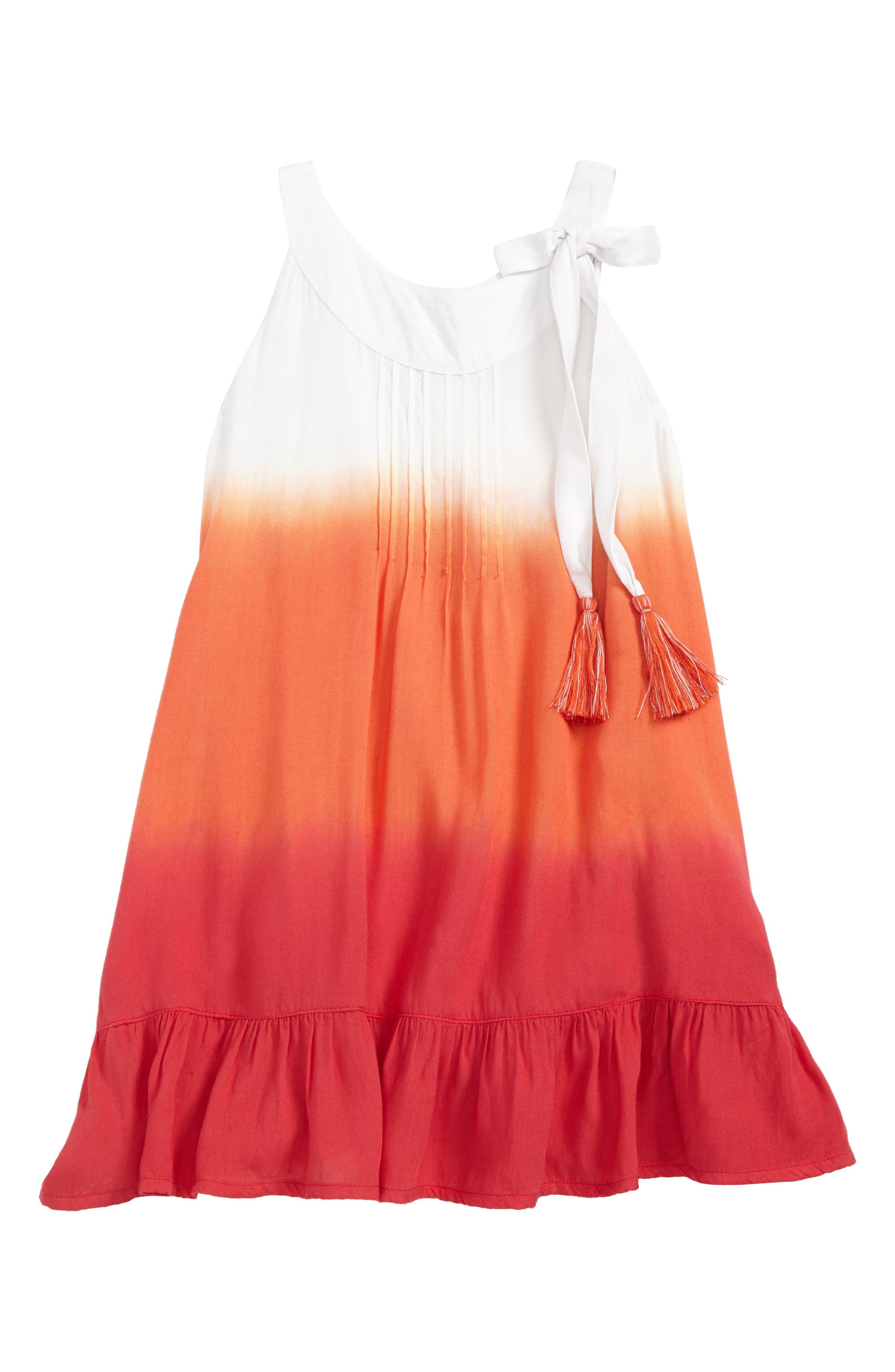 Camellia Dip Dye Cover-Up Dress,                             Main thumbnail 1, color,