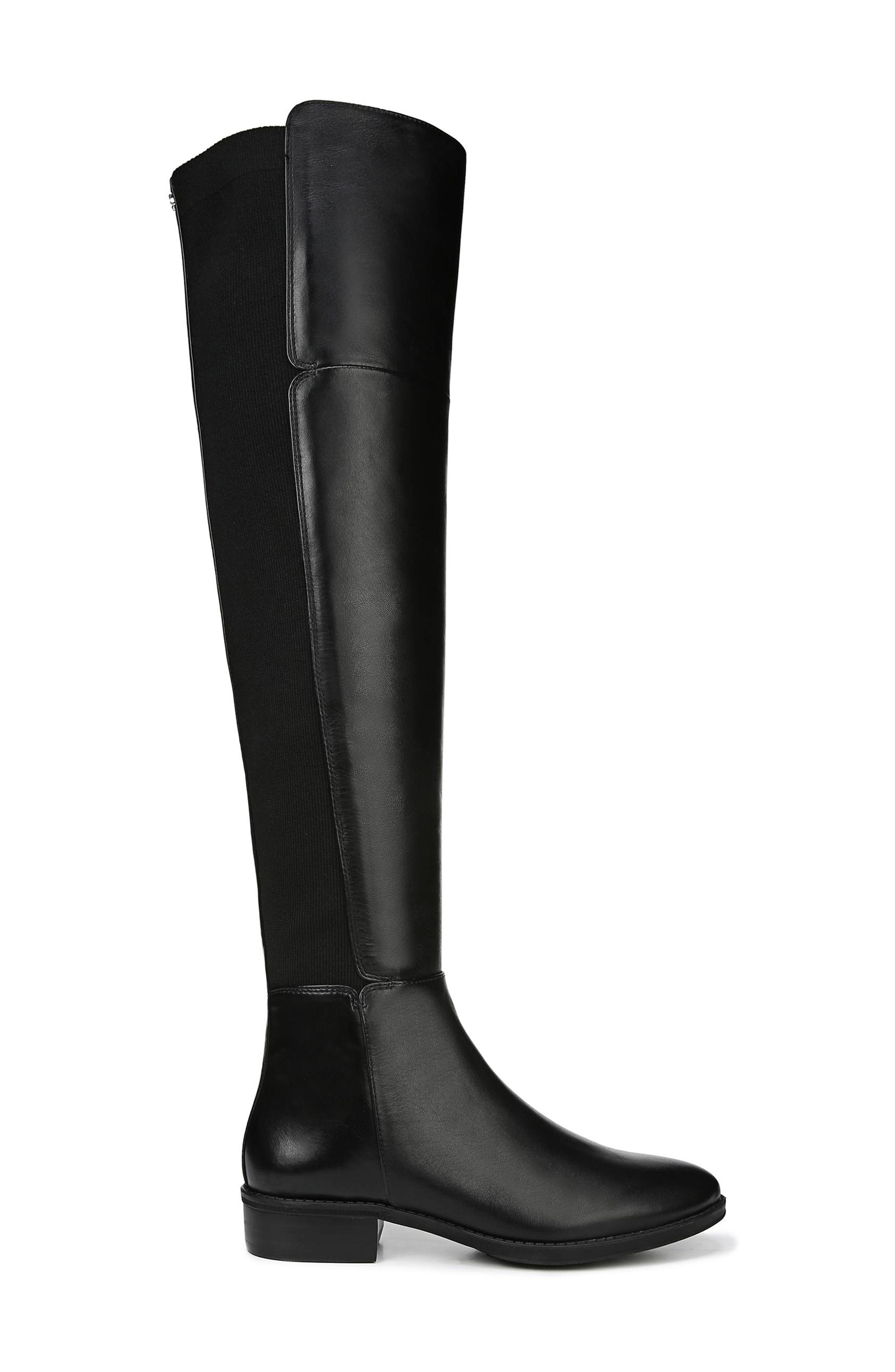 Pam Over the Knee Boot,                             Alternate thumbnail 3, color,                             BLACK LEATHER