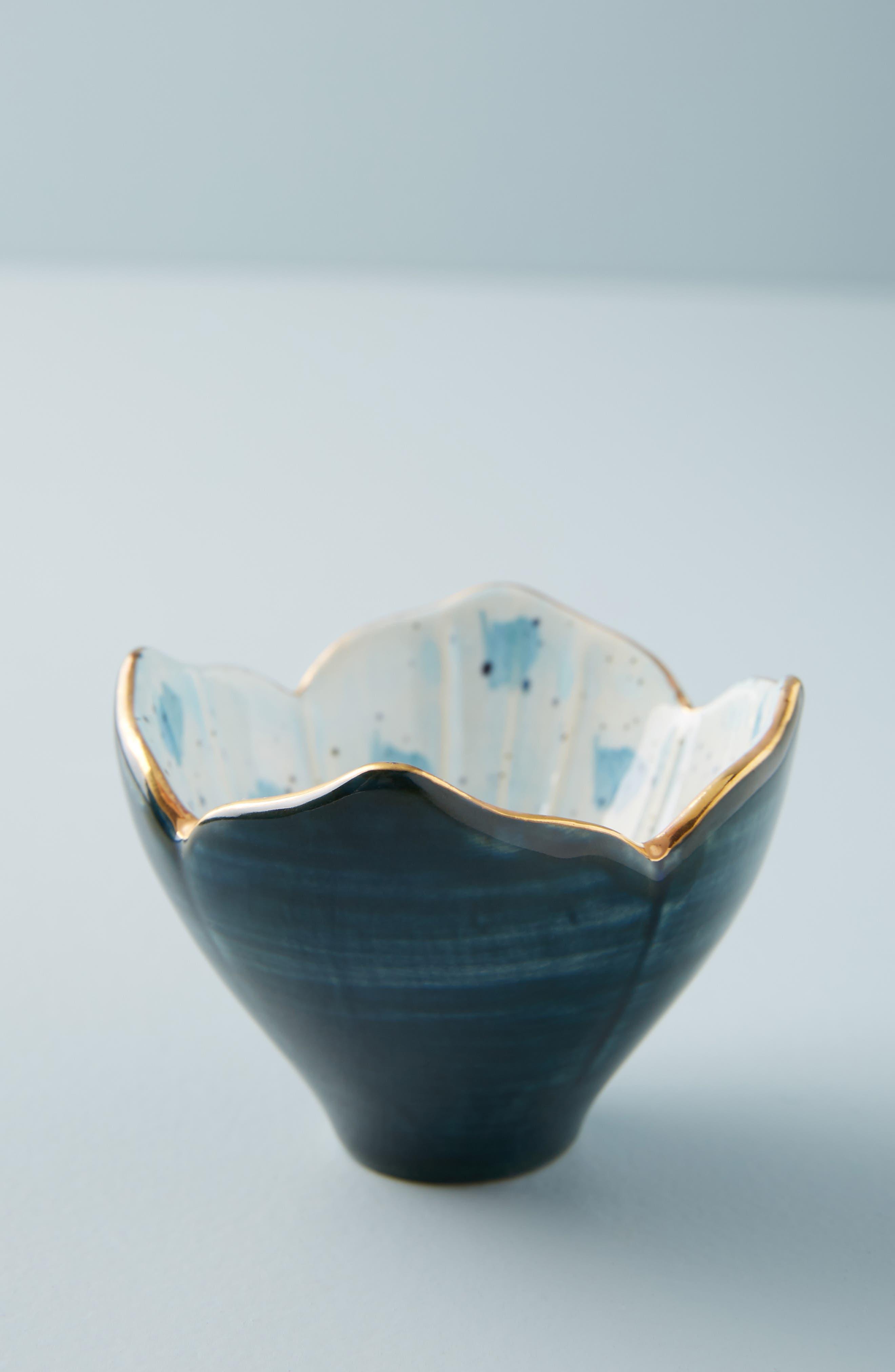 Flora Crocus Trinket Dish,                             Main thumbnail 1, color,                             BLUE