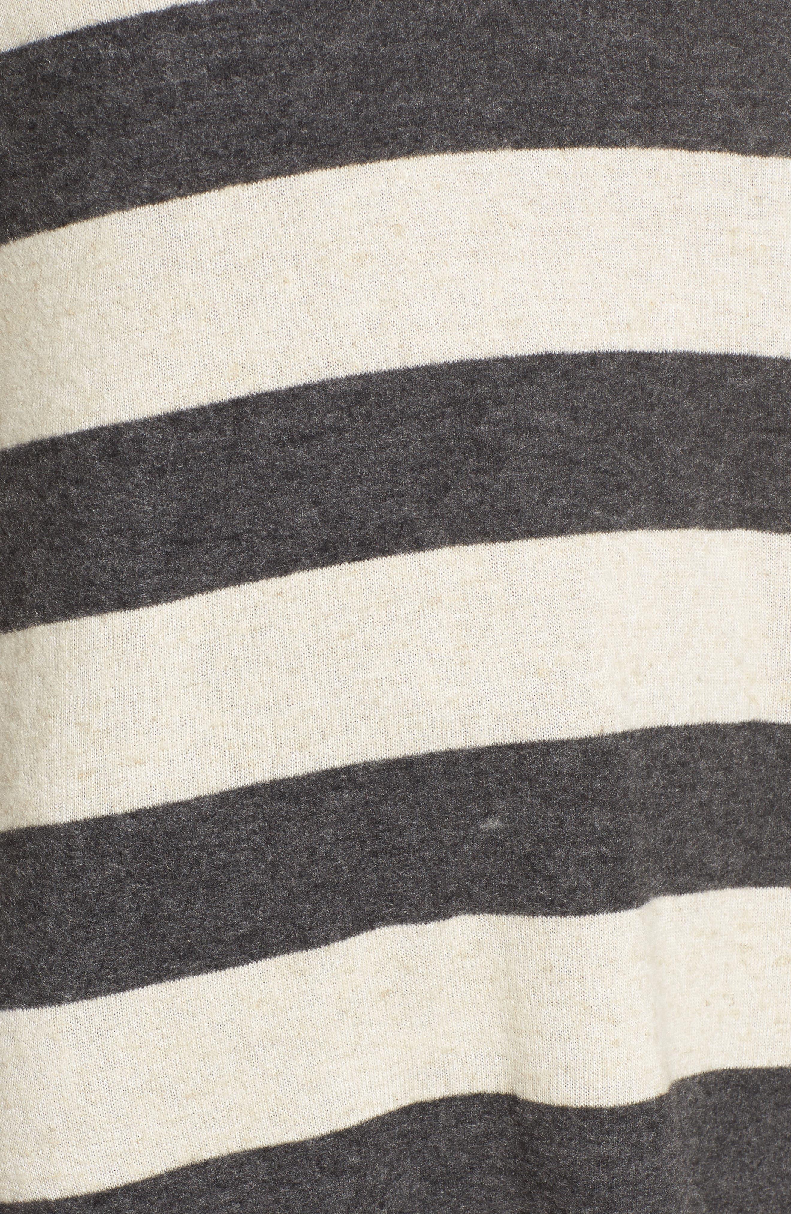 Stripe Cozy Tee,                             Alternate thumbnail 5, color,                             020