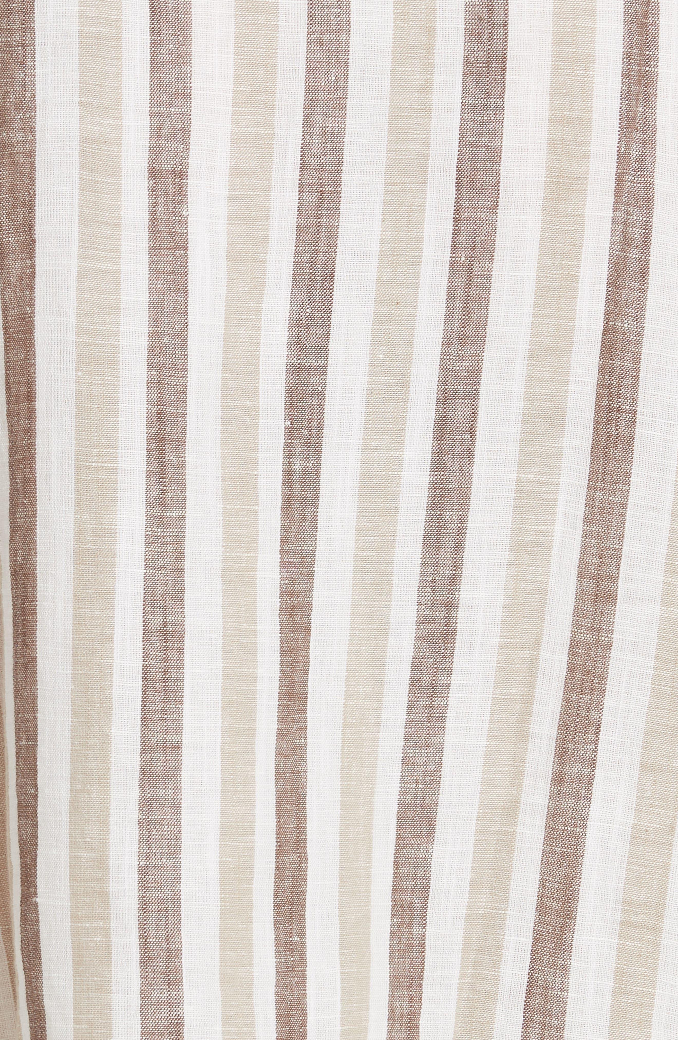 Monday Stripe Linen Blend Midi Dress,                             Alternate thumbnail 11, color,