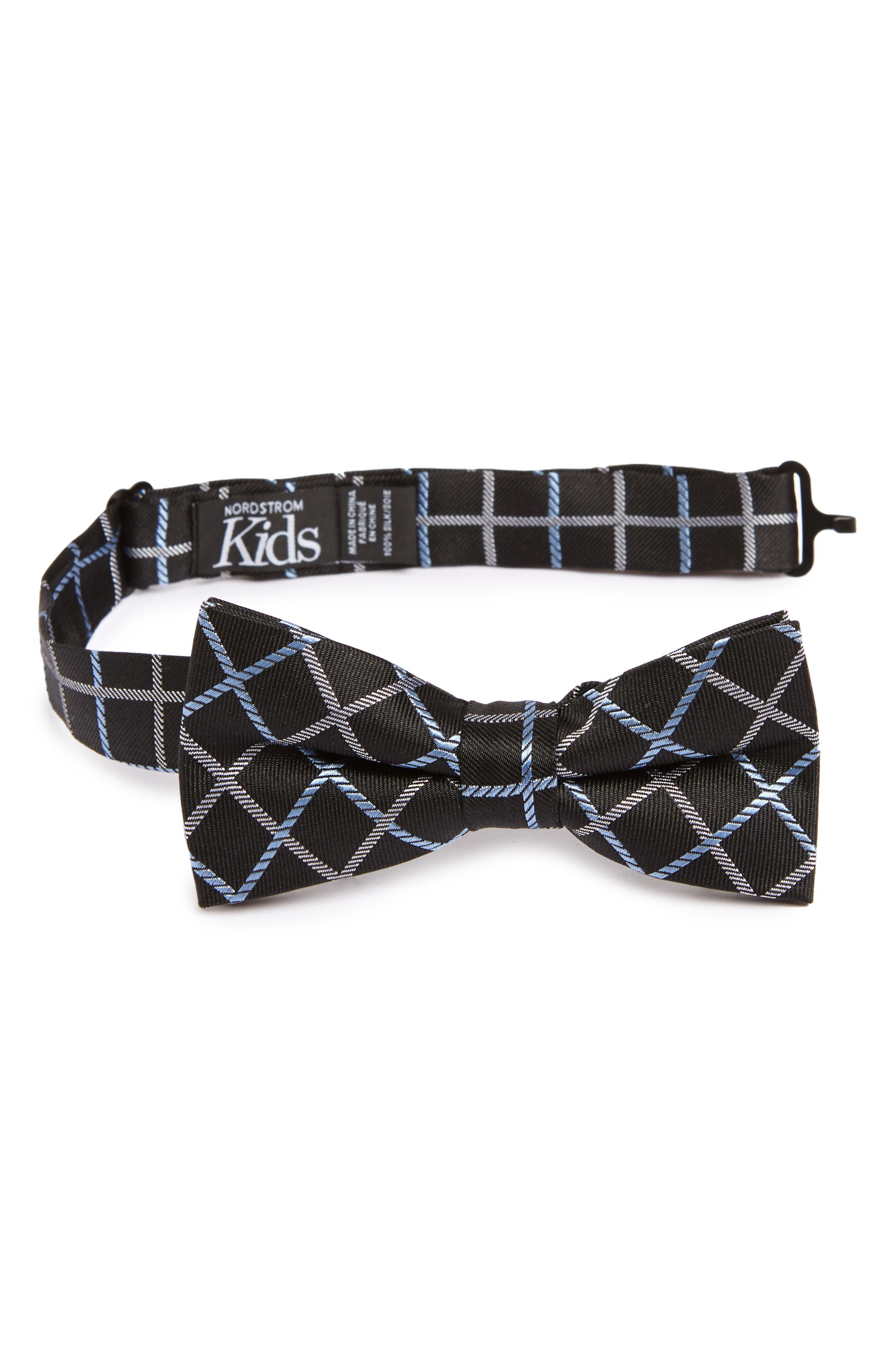 Plaid Silk Bow Tie,                             Main thumbnail 2, color,