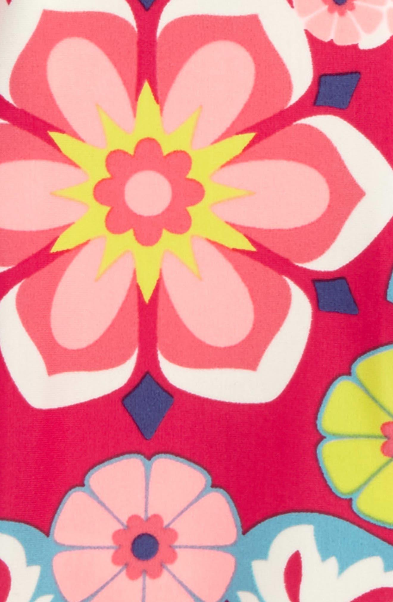 Flora One-Piece Rashguard Swimsuit,                             Alternate thumbnail 2, color,                             698