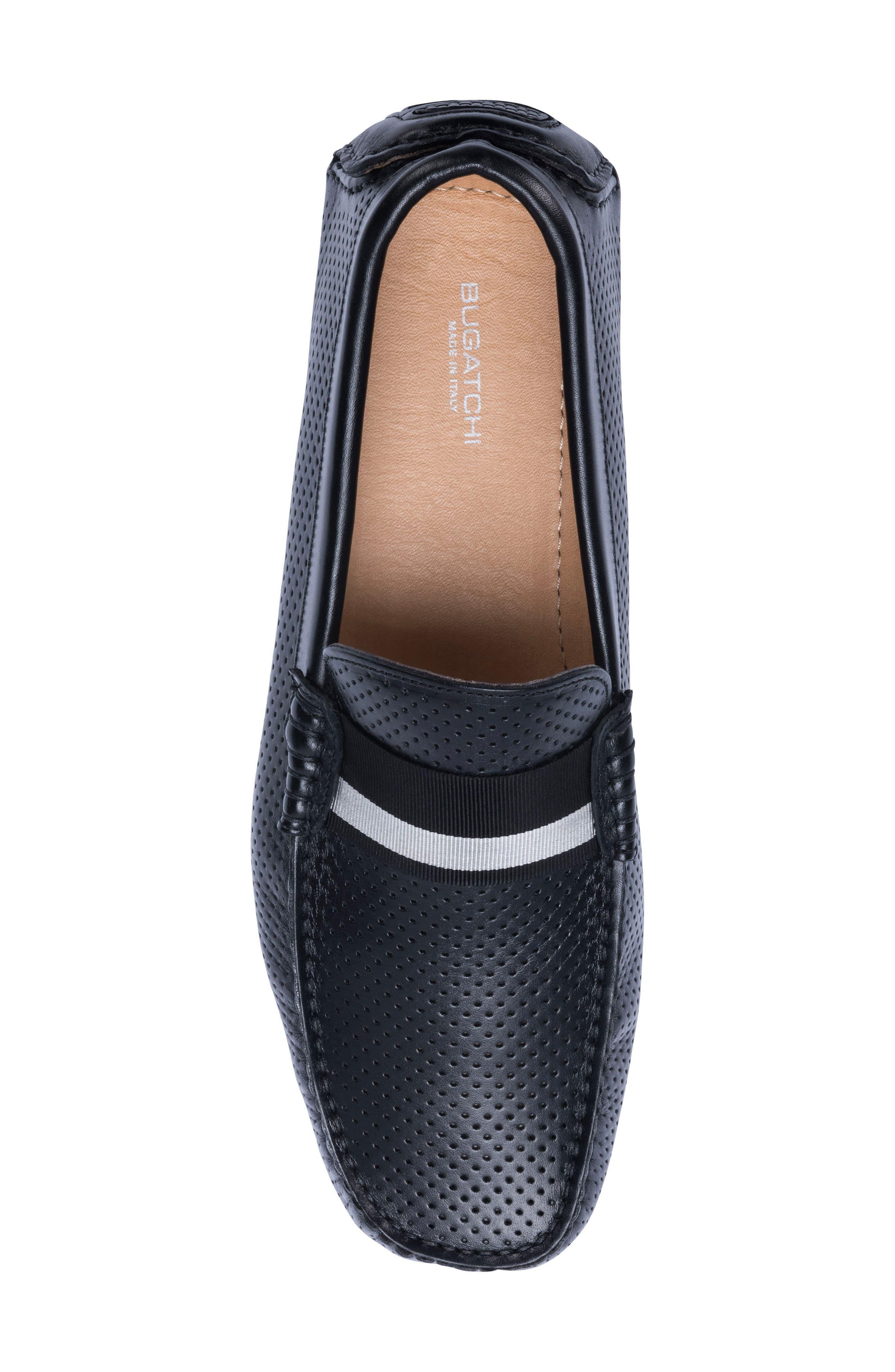 Sardegna Driving Shoe,                             Alternate thumbnail 5, color,                             BLACK