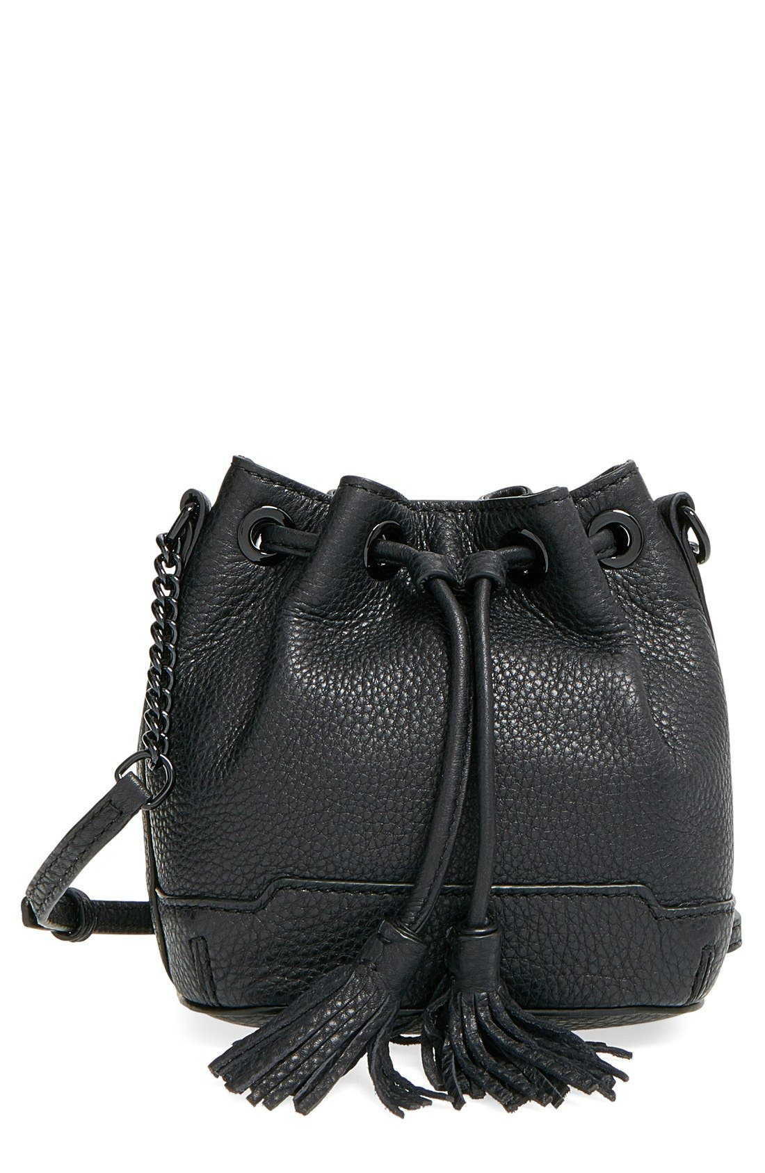 'Micro Lexi' Bucket Bag,                             Main thumbnail 1, color,                             001