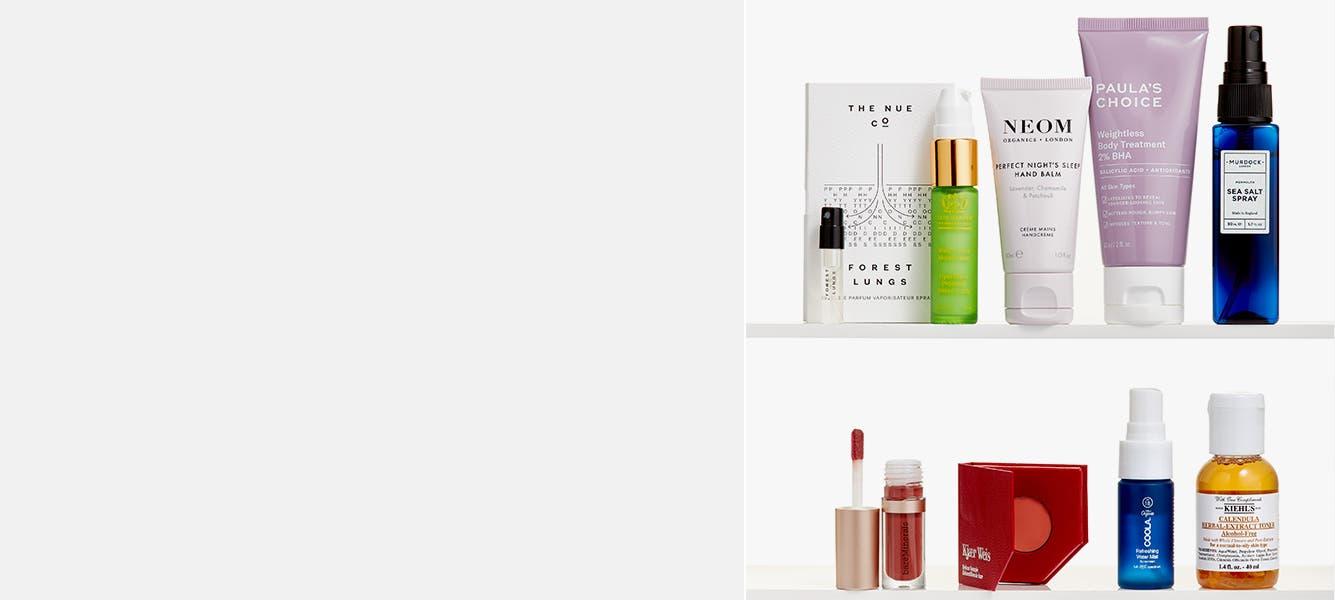 Sustainable beauty gift with purchase.