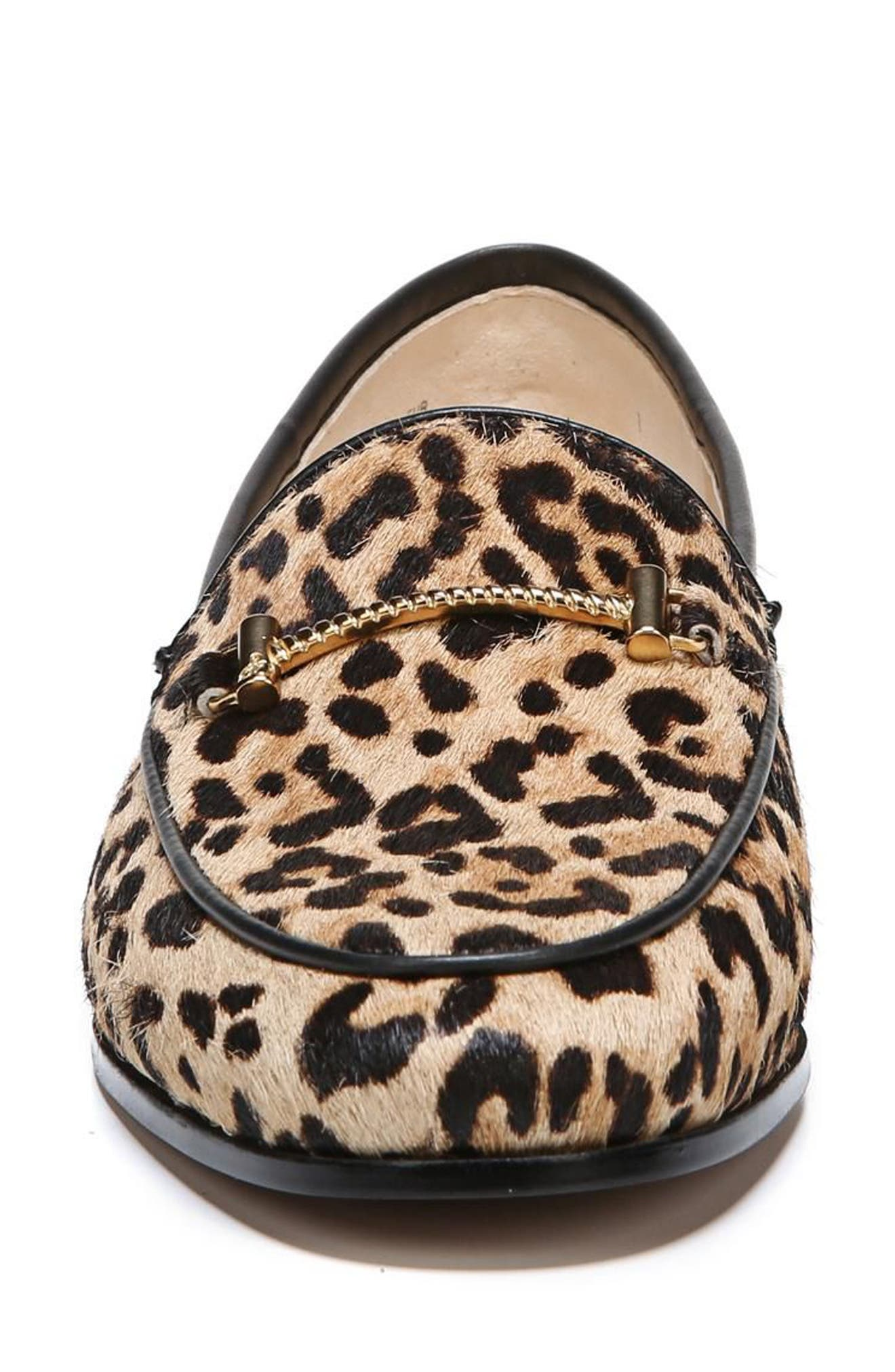 Lior Loafer,                             Alternate thumbnail 4, color,                             SAND LEOPARD CALF HAIR