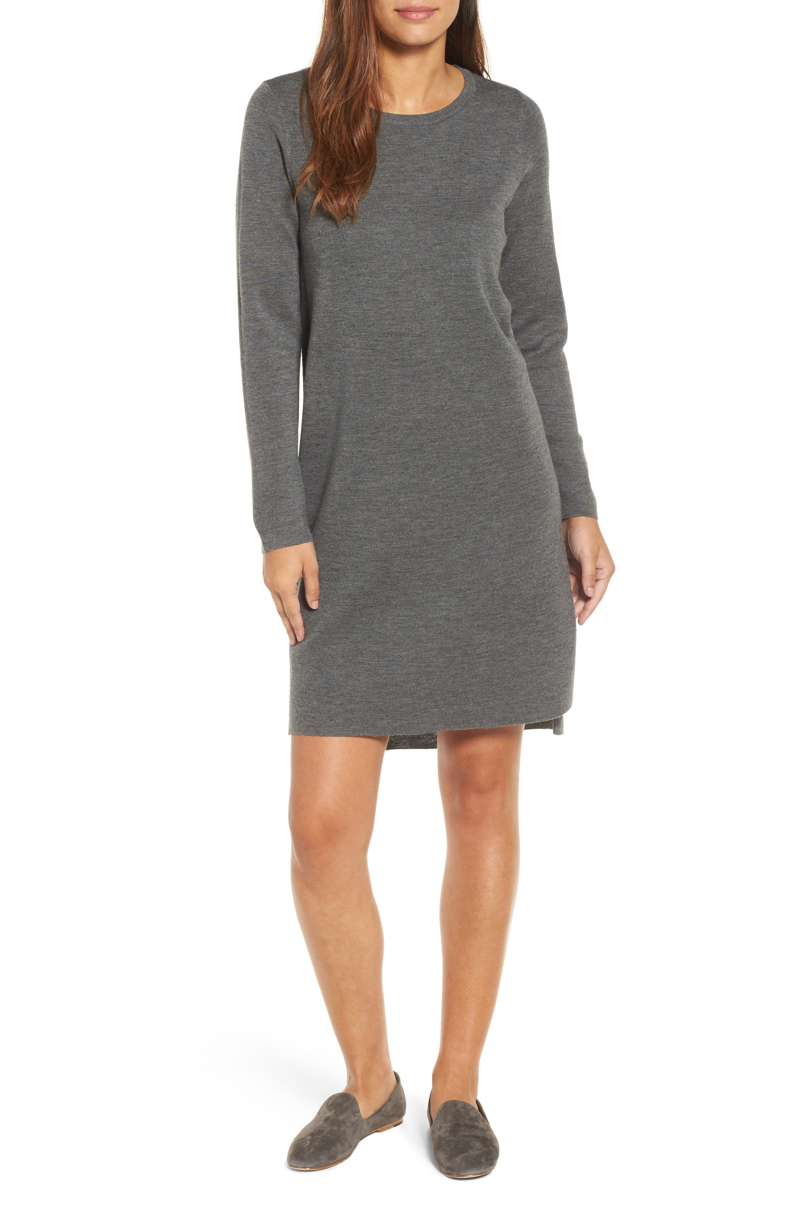 Merino Wool Sweater Dress,                             Main thumbnail 3, color,