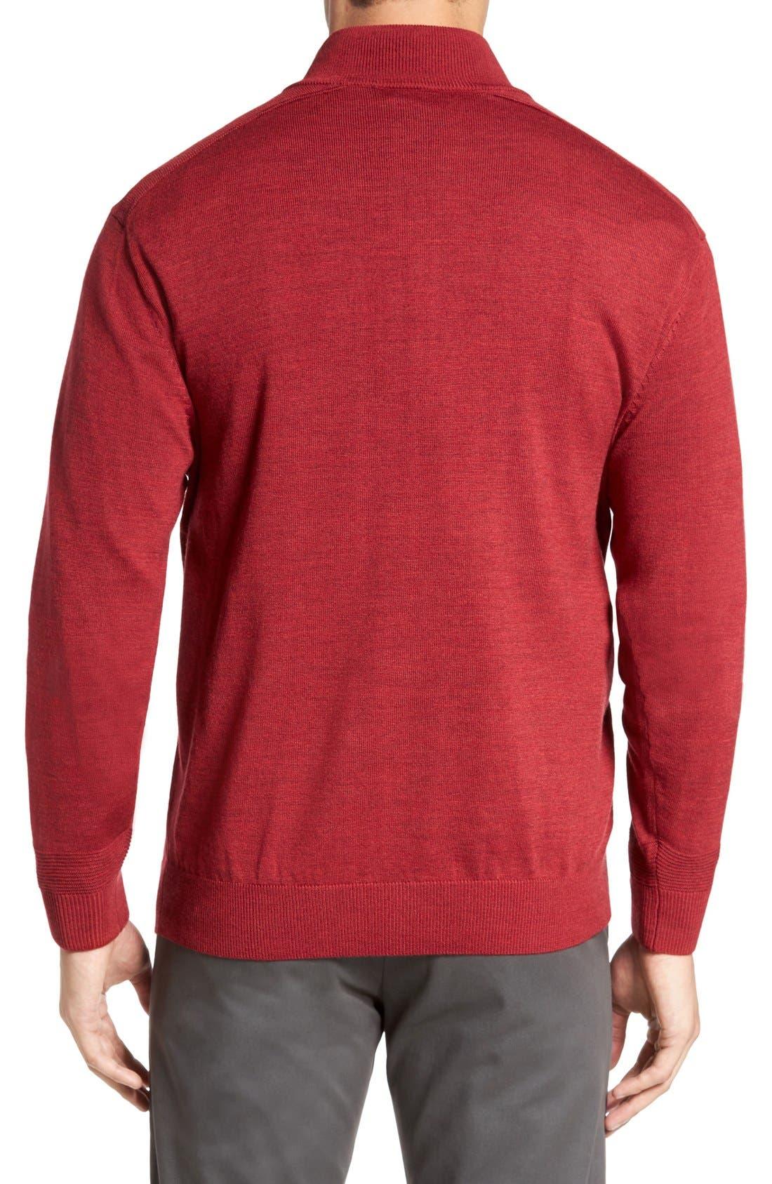 Douglas Quarter Zip Wool Blend Sweater,                             Alternate thumbnail 12, color,