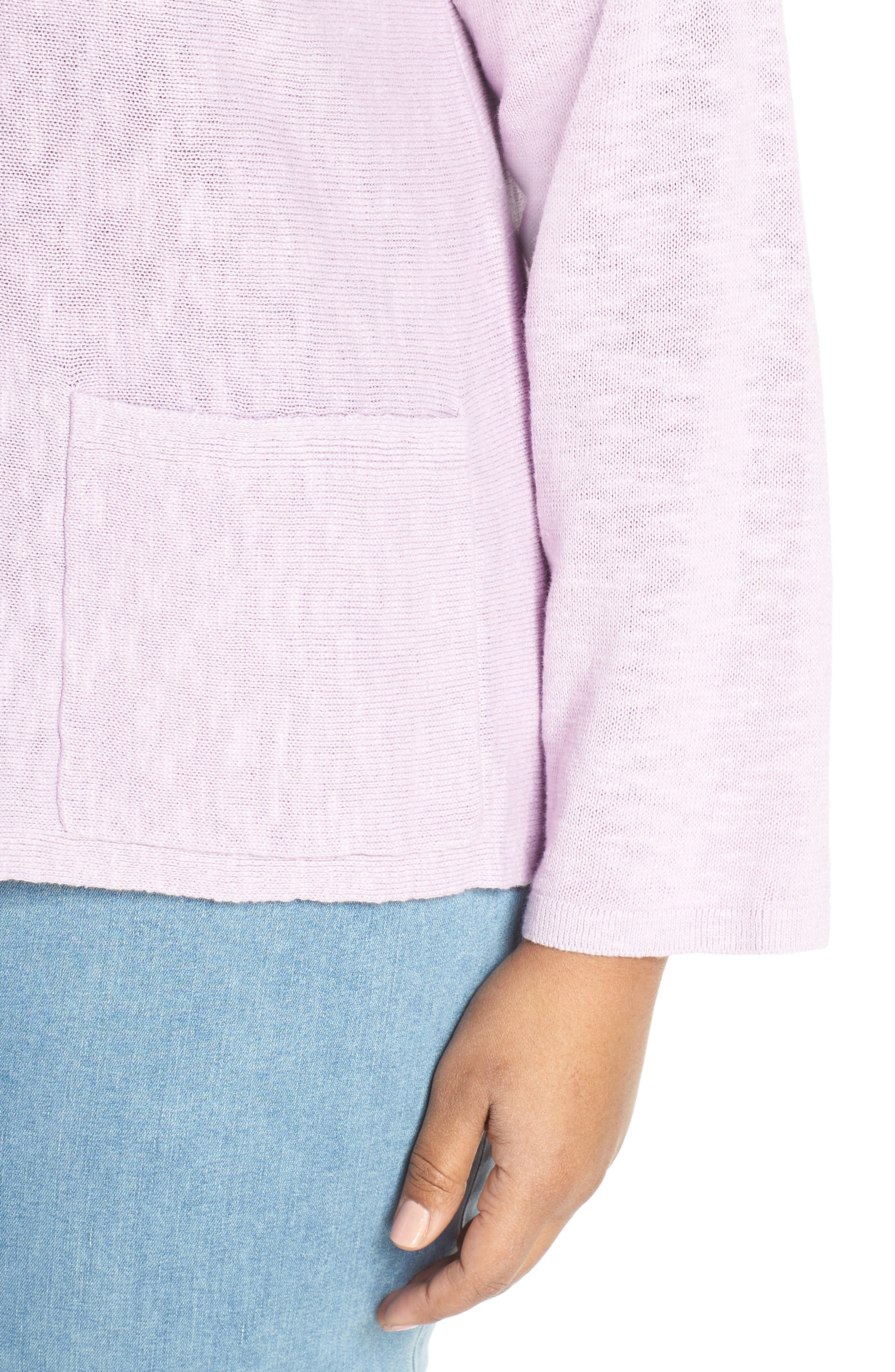 Round Neck Sweater,                             Alternate thumbnail 4, color,                             MALLOW