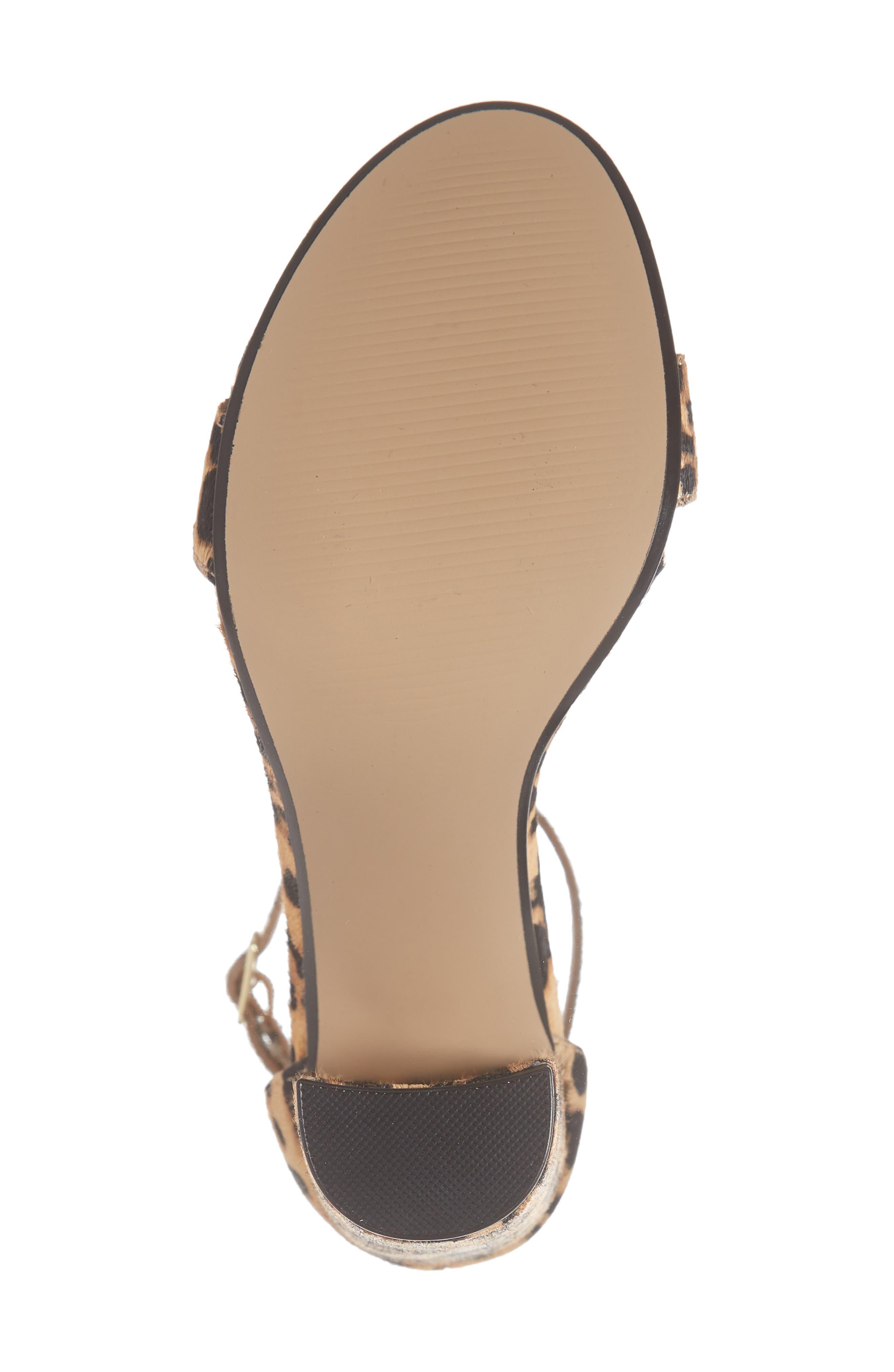 'Carrson' Sandal,                             Alternate thumbnail 6, color,                             LEOPARD MULTI