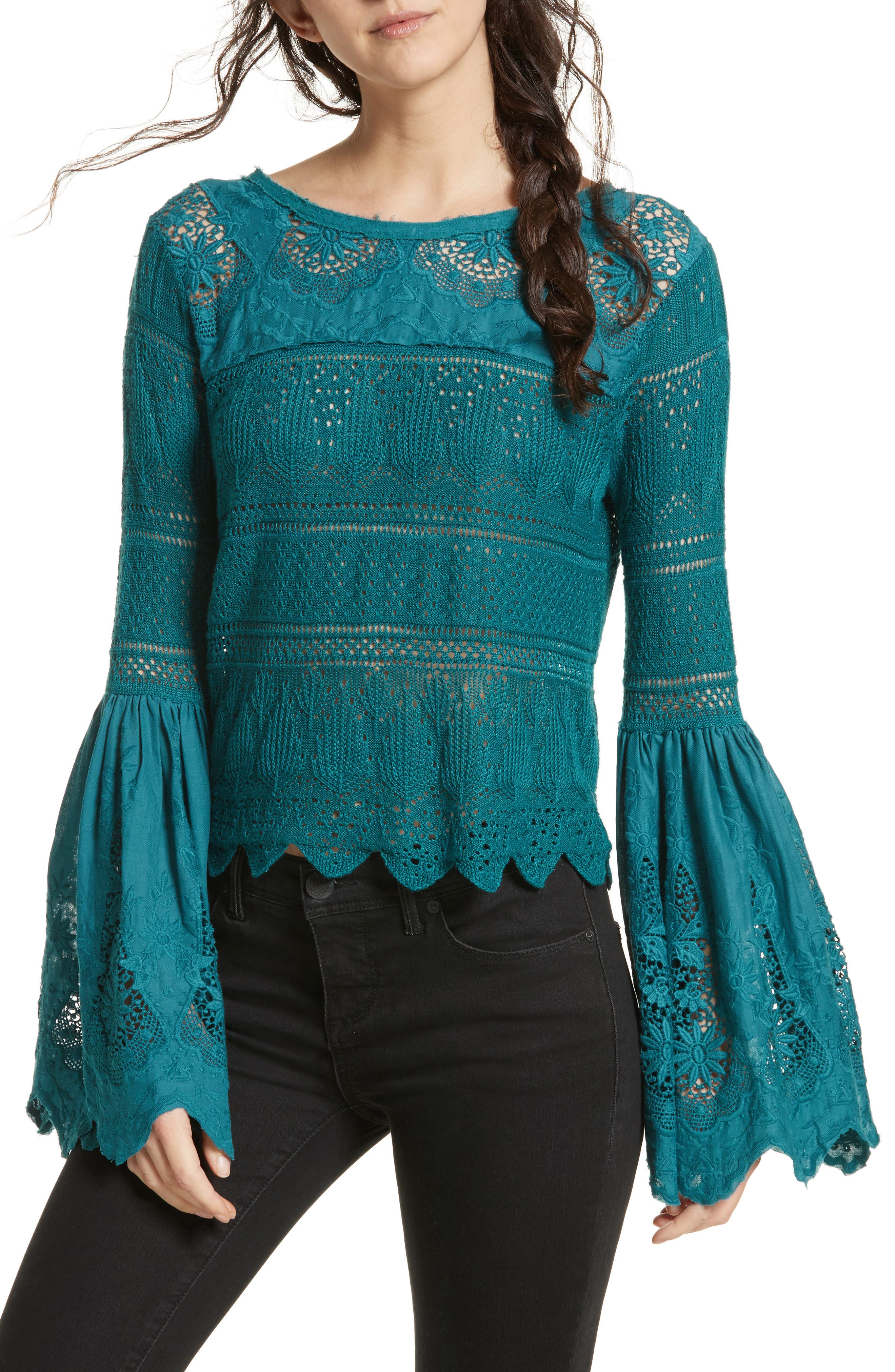 Once Upon a Time Lace Top,                             Main thumbnail 2, color,