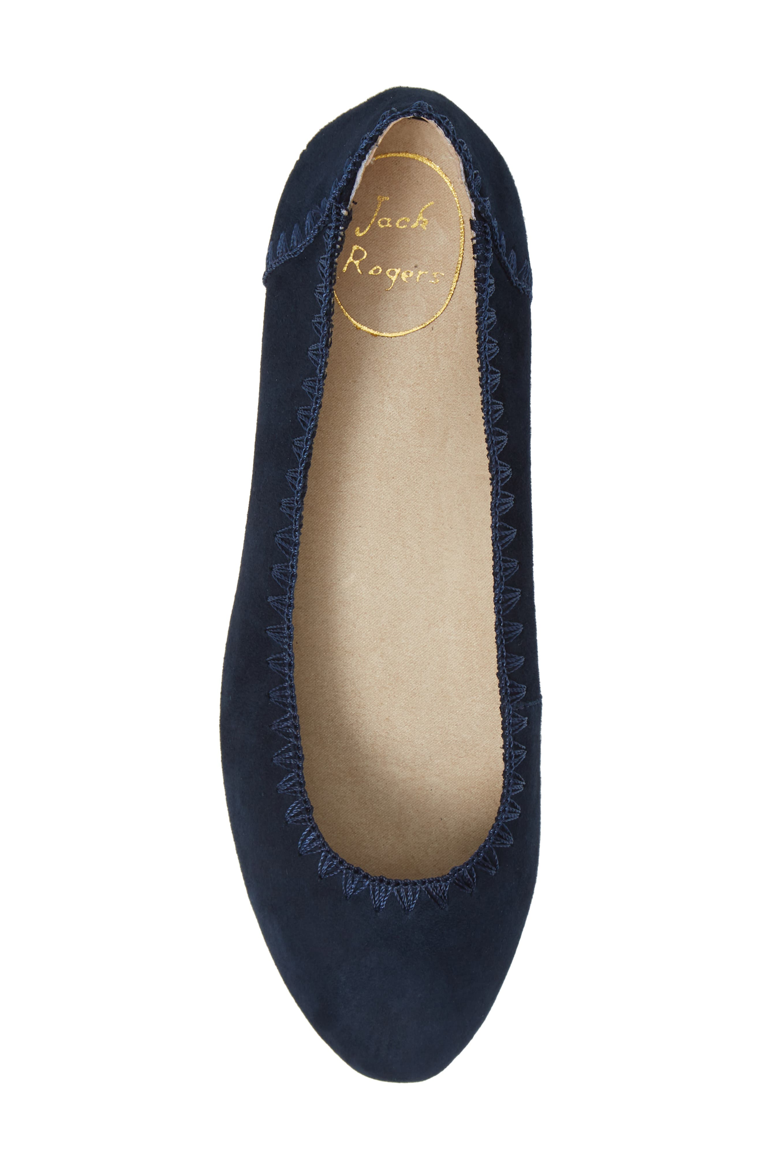 Ellie II Flat,                             Alternate thumbnail 5, color,                             MIDNIGHT BLUE SUEDE