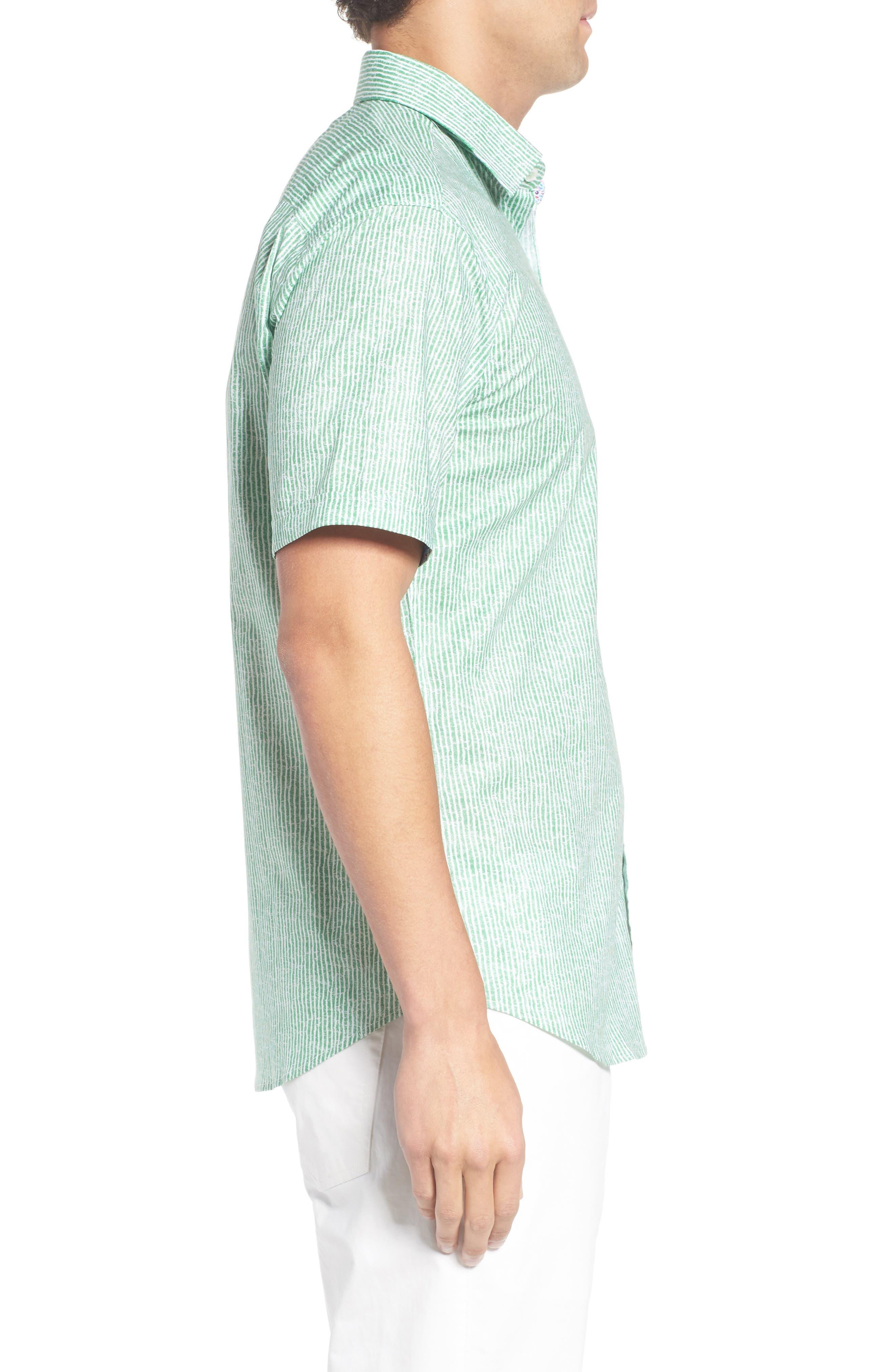 Shaped Fit Stripe Sport Shirt,                             Alternate thumbnail 20, color,