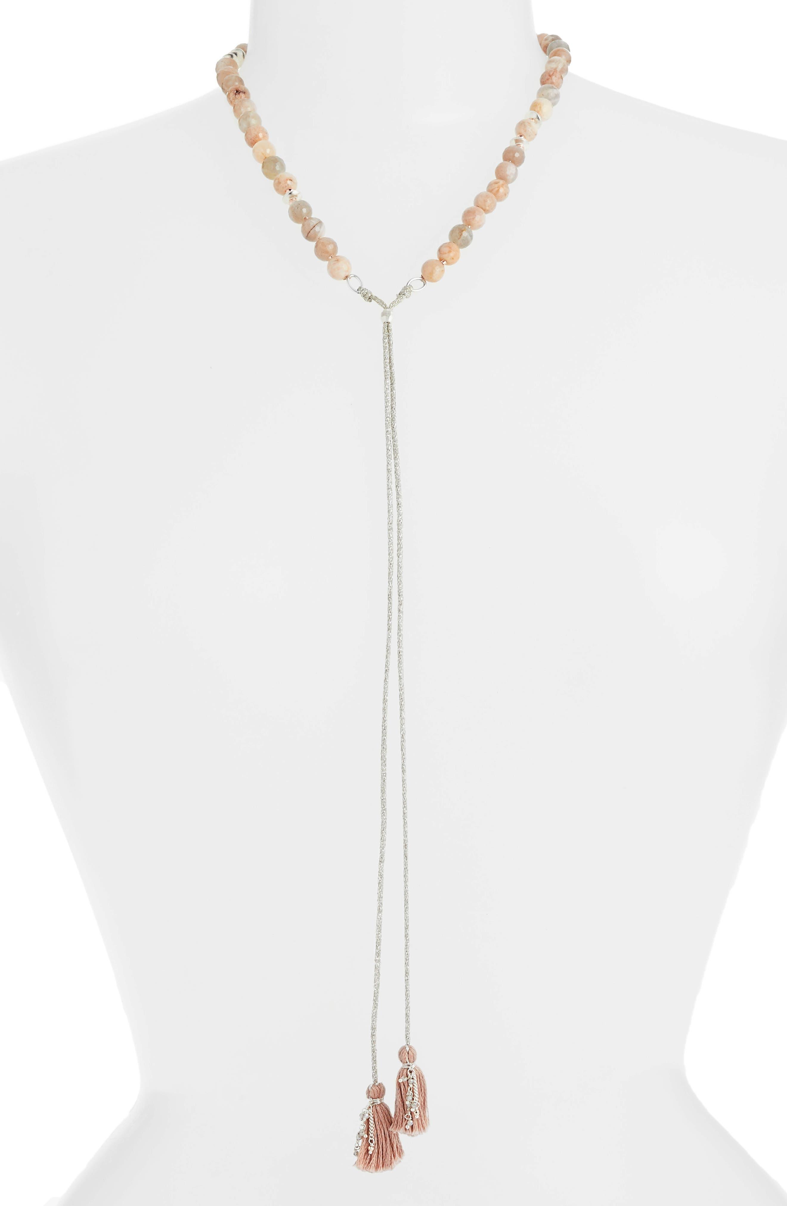 Sunstone Lariat Necklace,                         Main,                         color, SUNSTONE