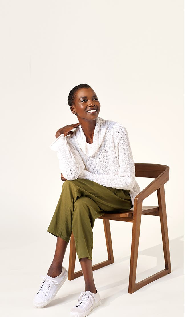 Effortlessly casual from head to toe: Eileen Fisher women's clothing.