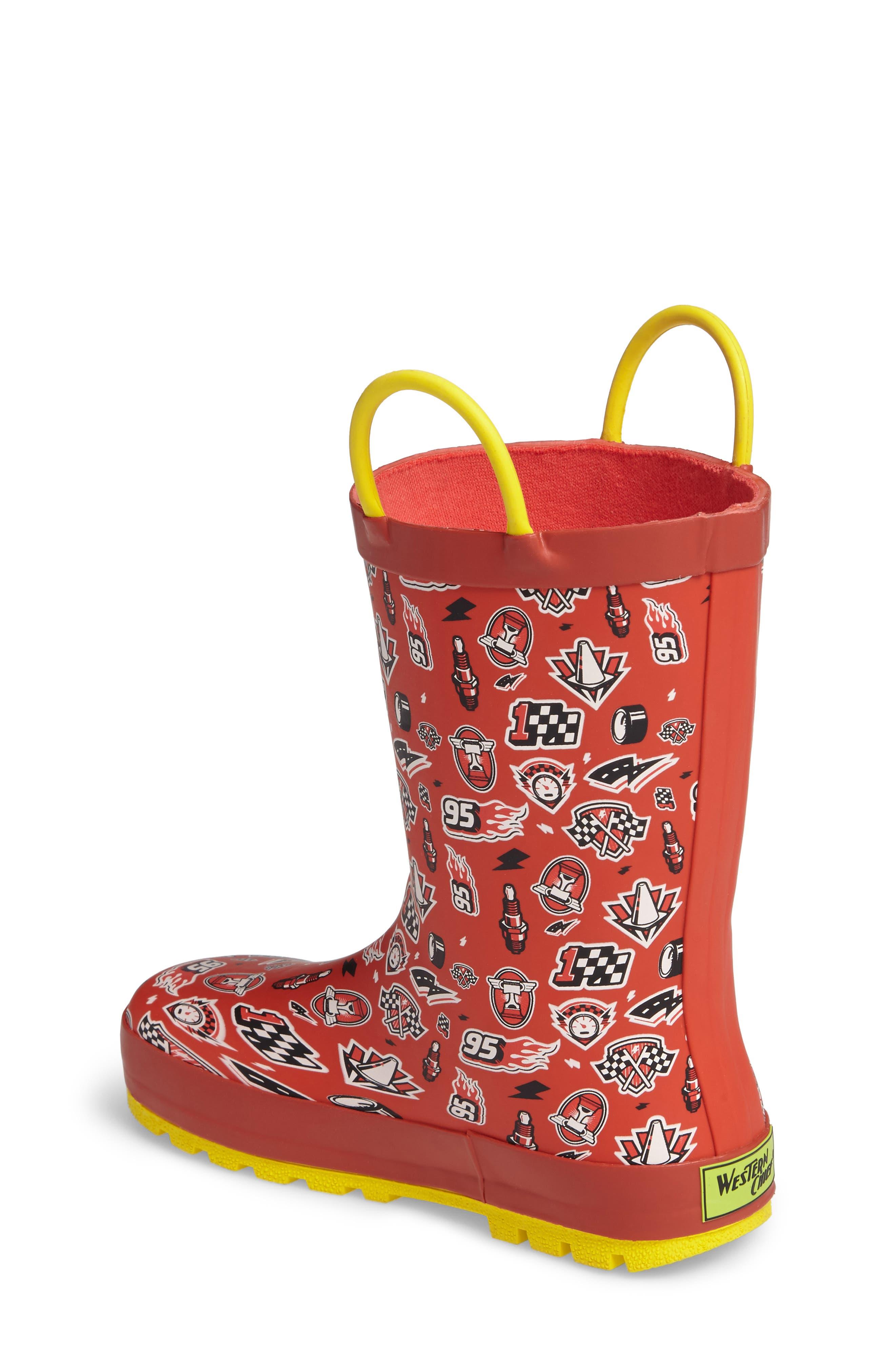 Cars<sup>®</sup> Lightning Fast Waterproof Rain Boot,                             Alternate thumbnail 2, color,                             610