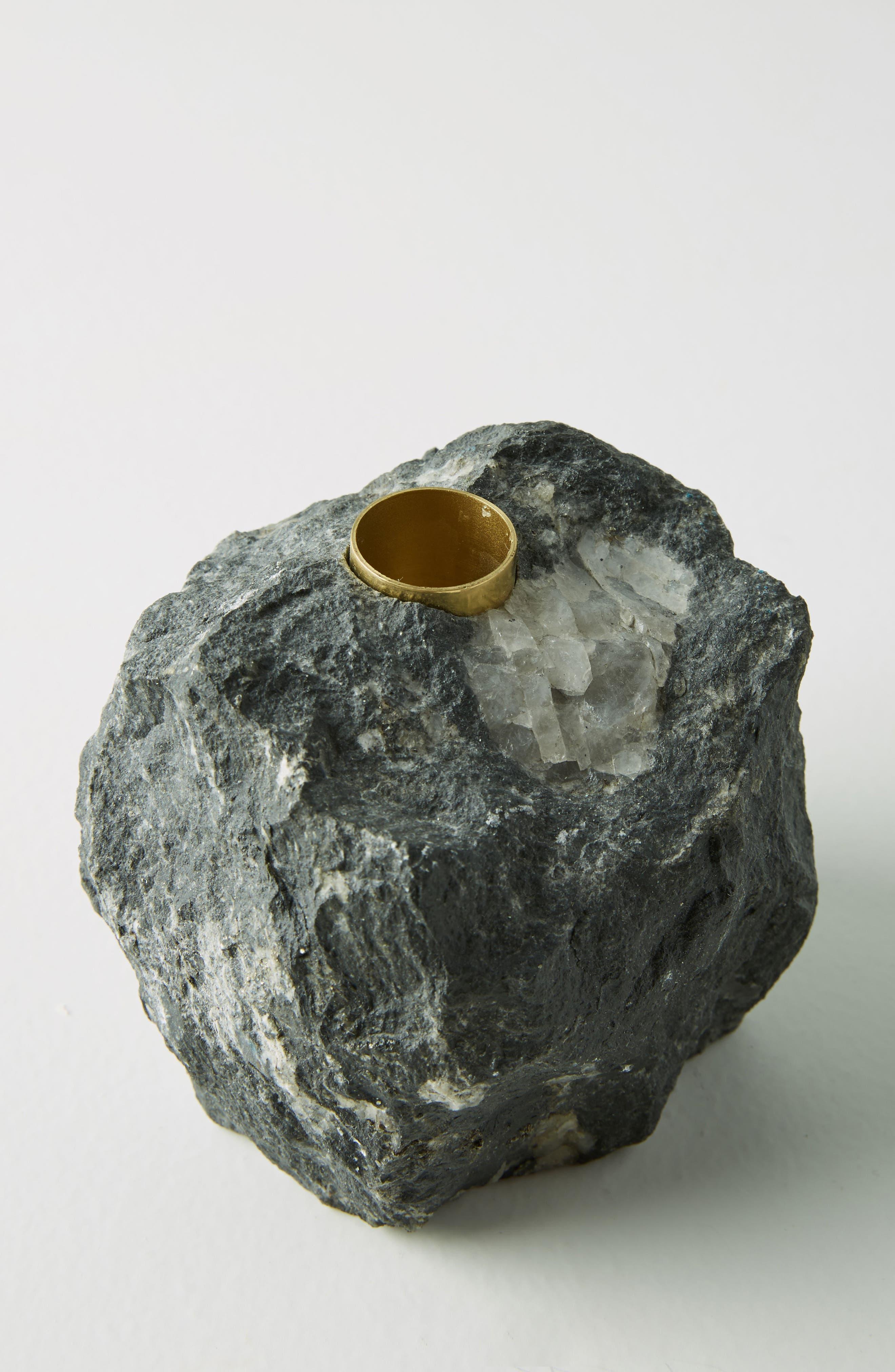 Stone Taper Candleholder,                             Alternate thumbnail 2, color,                             001