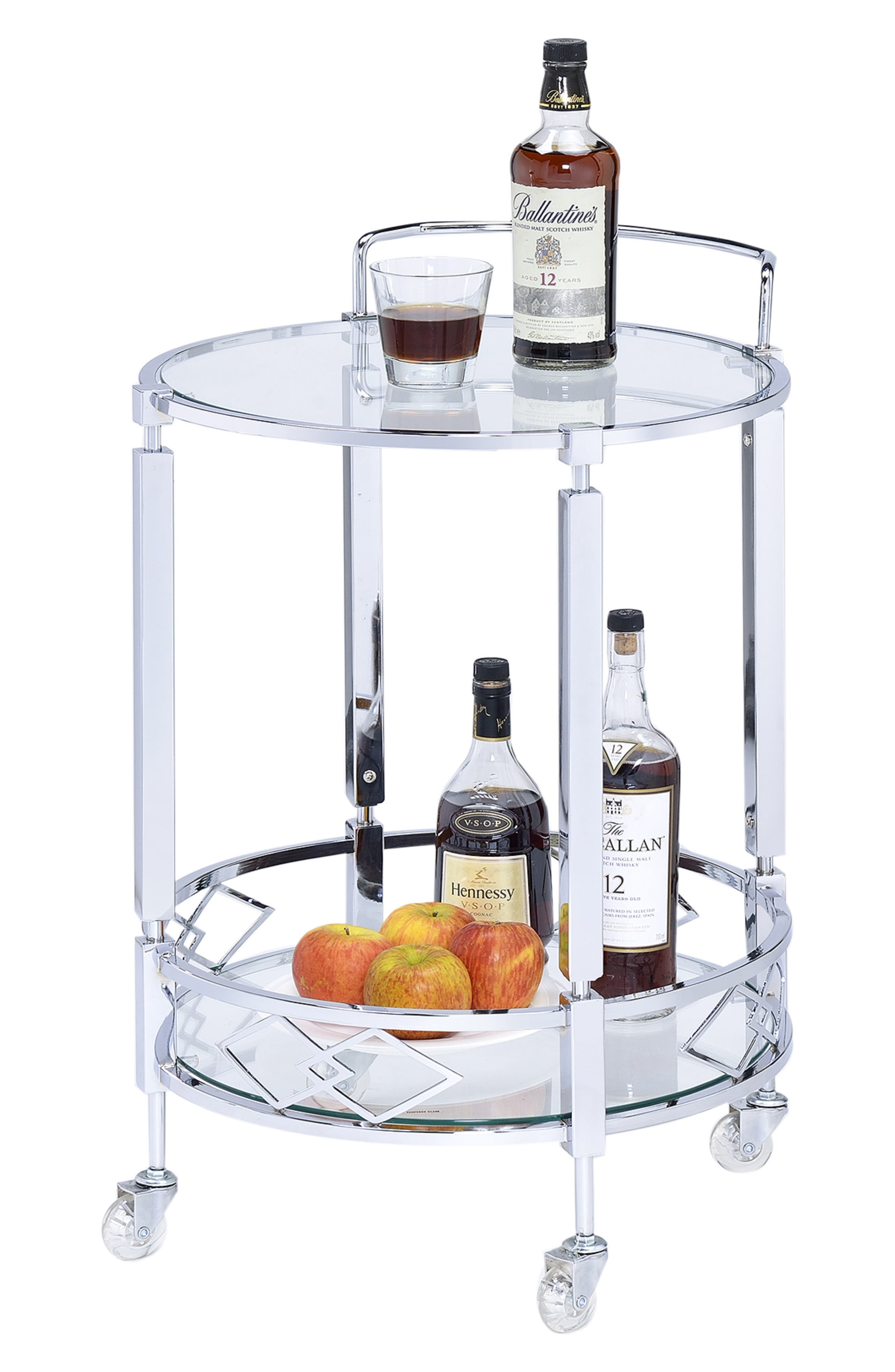 Rolling Bar Cart,                         Main,                         color, SILVER