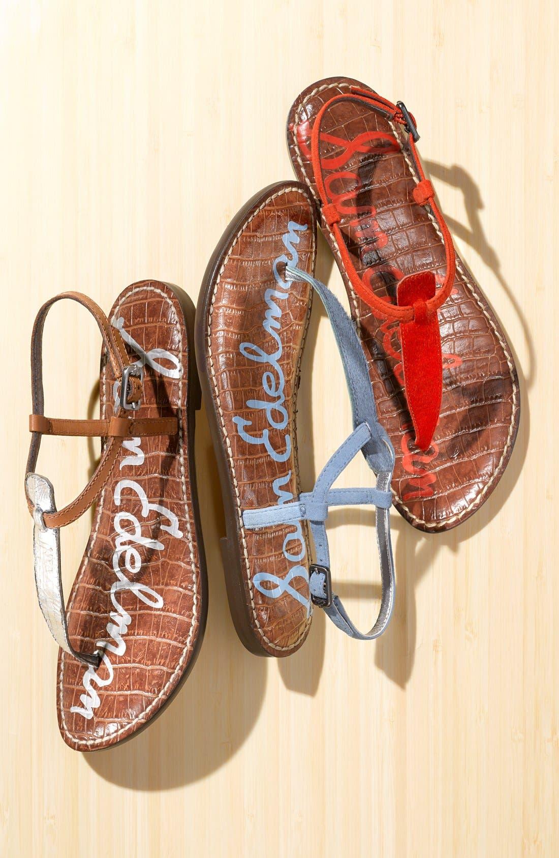'Gigi' Leather Sandal,                             Alternate thumbnail 6, color,                             045