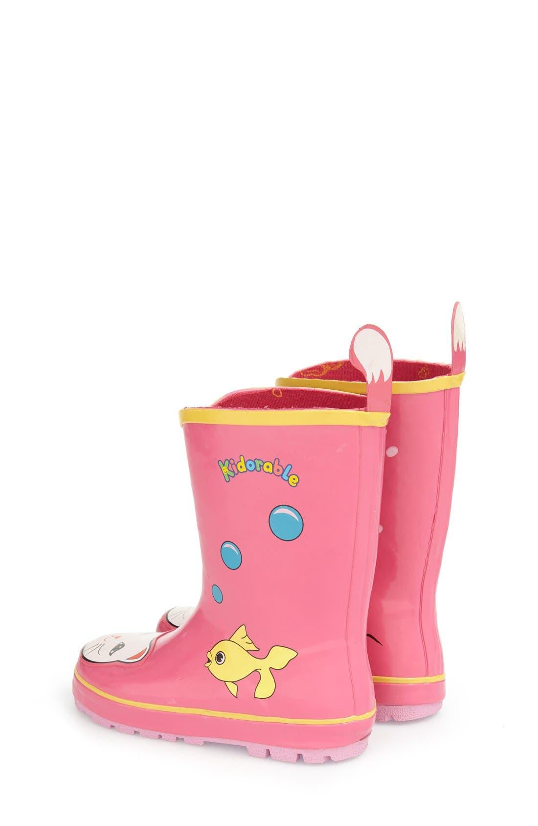 'Cat' Waterproof Rain Boot,                             Alternate thumbnail 2, color,                             650