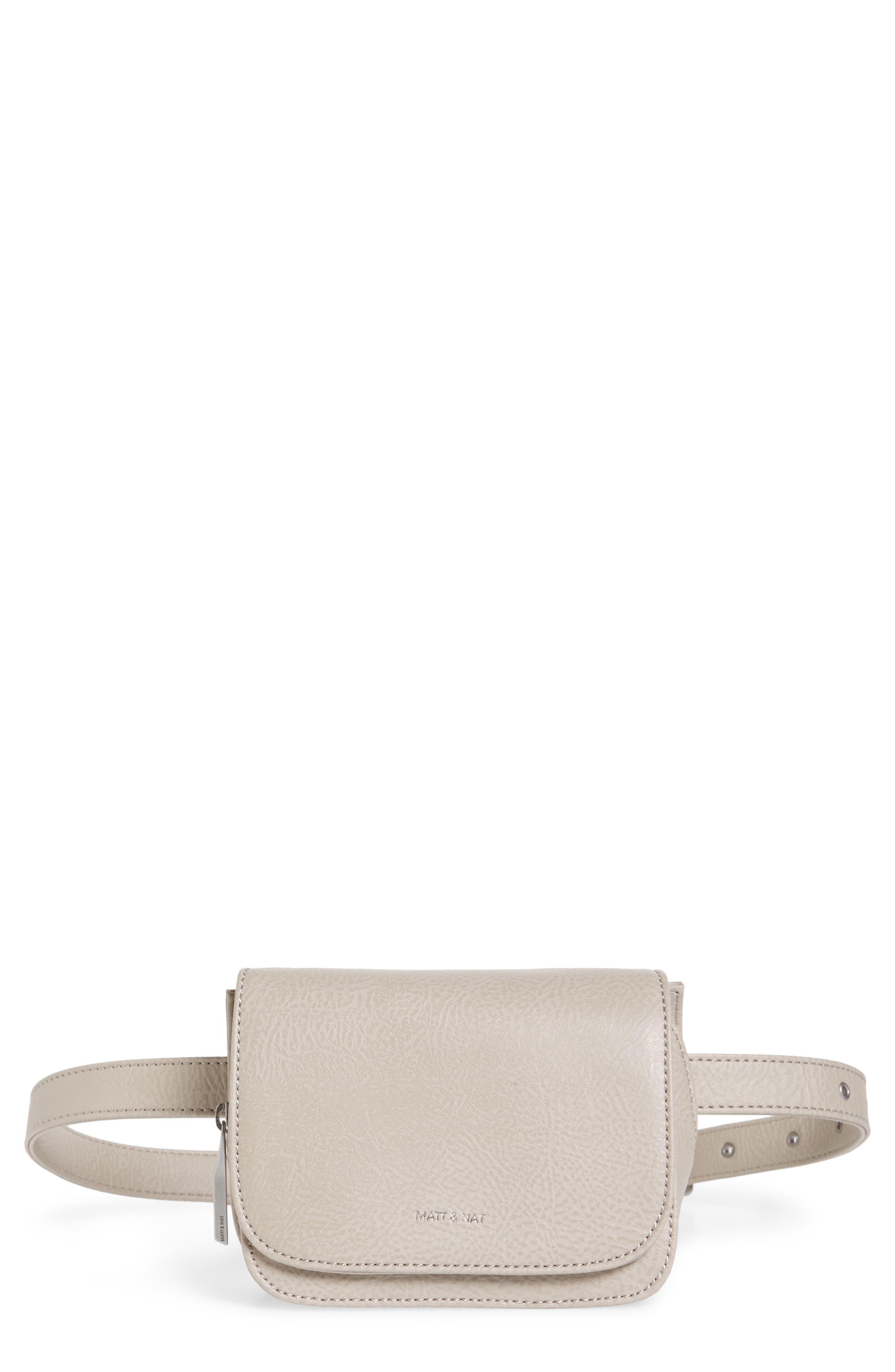 Matt & Nat Park Faux Leather Belt Bag - Grey